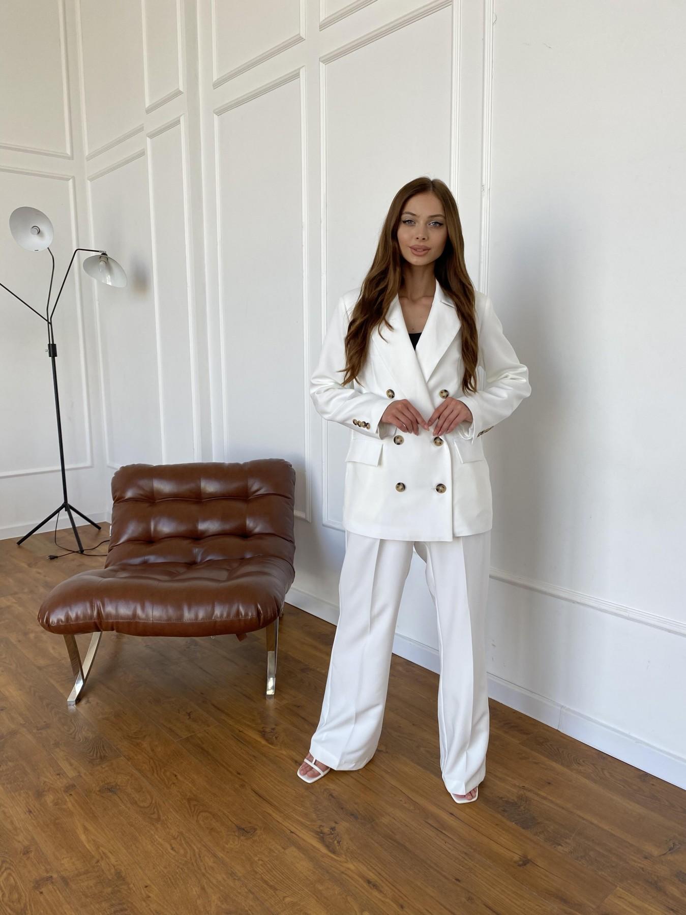 Белисимо  костюм стрейч из костюмной ткани 11217 АРТ. 47899 Цвет: Молоко 1 - фото 7, интернет магазин tm-modus.ru