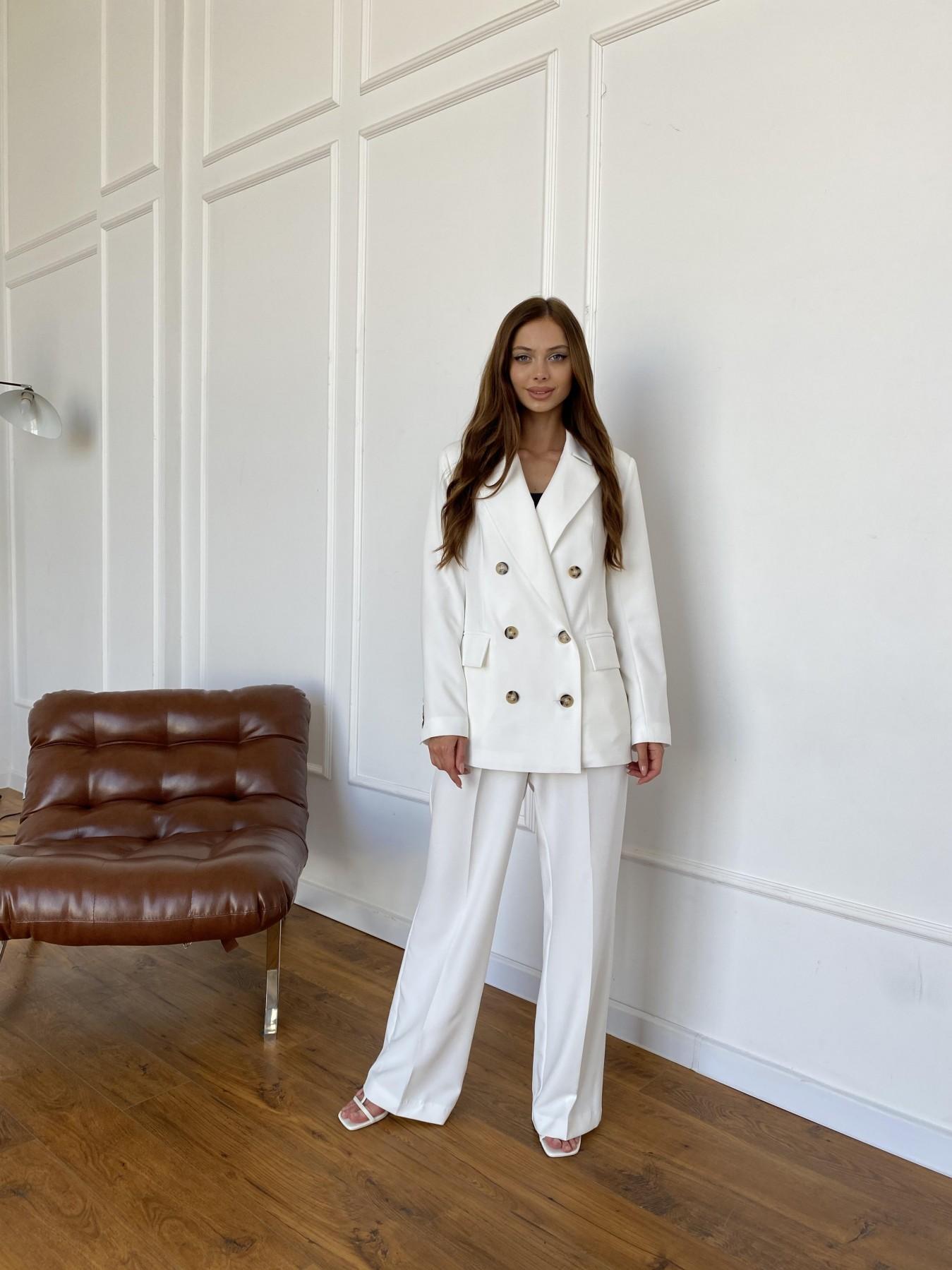 Белисимо  костюм стрейч из костюмной ткани 11217 АРТ. 47899 Цвет: Молоко 1 - фото 9, интернет магазин tm-modus.ru