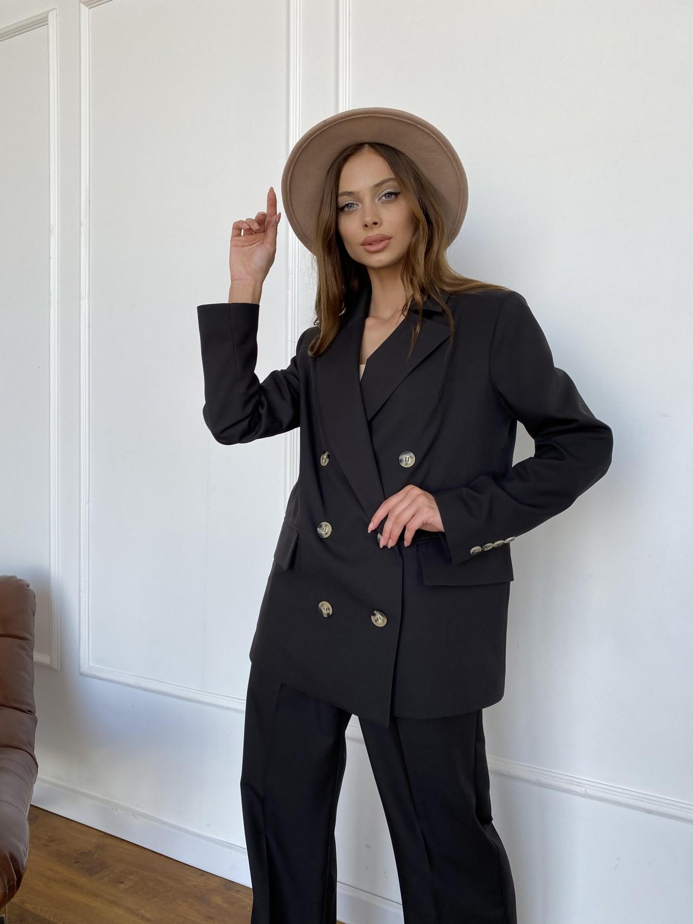 Белисимо  костюм стрейч из костюмной ткани 11217 АРТ. 47792 Цвет: Черный - фото 2, интернет магазин tm-modus.ru