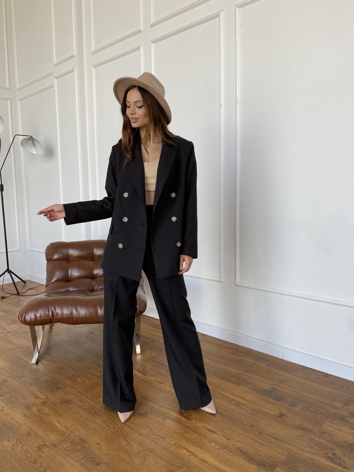 Белисимо  костюм стрейч из костюмной ткани 11217 АРТ. 47792 Цвет: Черный - фото 8, интернет магазин tm-modus.ru
