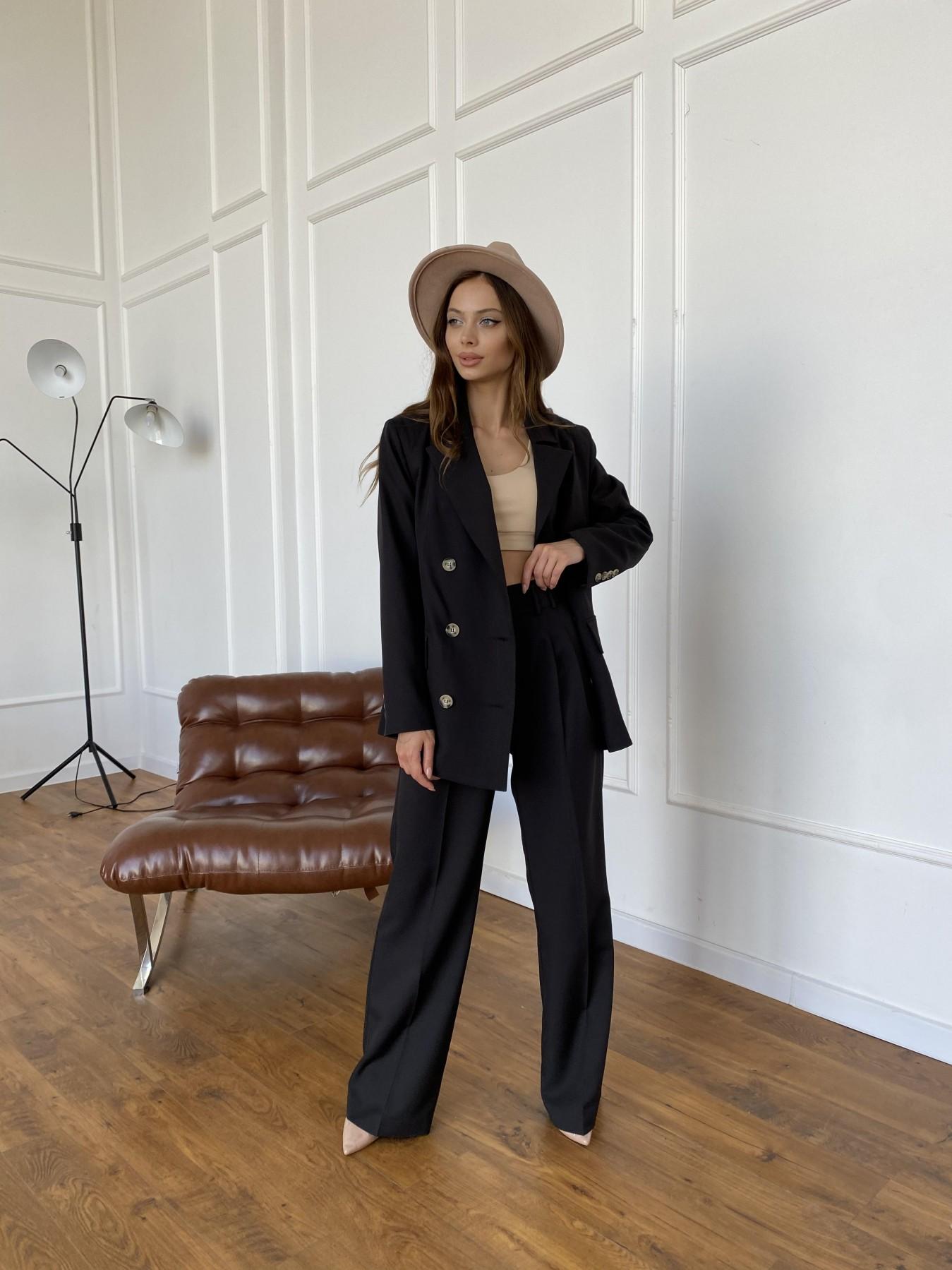 Белисимо  костюм стрейч из костюмной ткани 11217 АРТ. 47792 Цвет: Черный - фото 9, интернет магазин tm-modus.ru