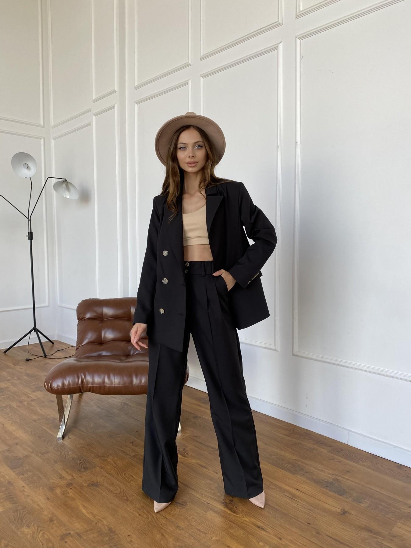 Белисимо  костюм стрейч из костюмной ткани 11217 АРТ. 47792 Цвет: Черный - фото 10, интернет магазин tm-modus.ru