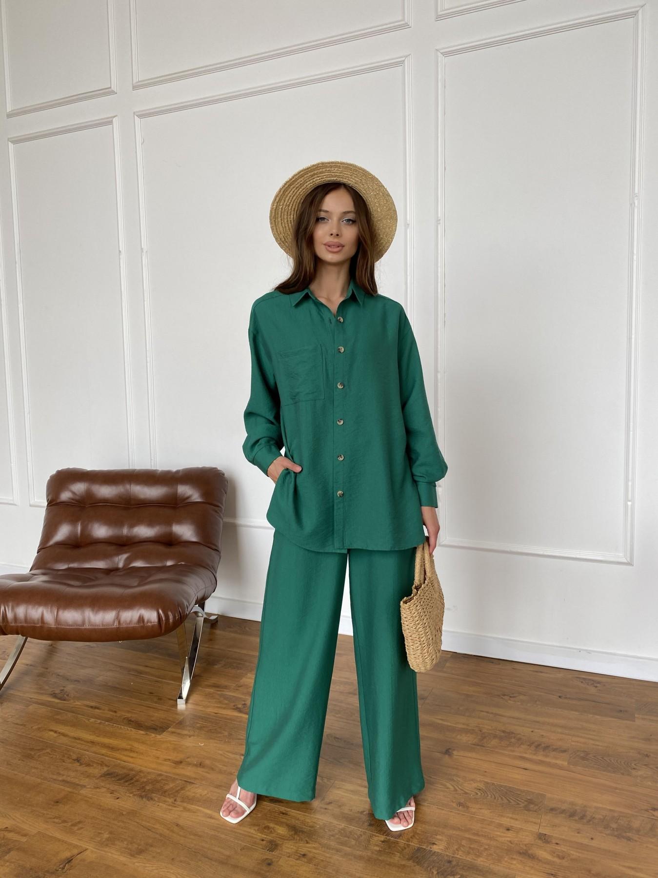 Дуэтто костюм из льна жатка не стрейч 11413 АРТ. 47961 Цвет: Зеленый - фото 7, интернет магазин tm-modus.ru