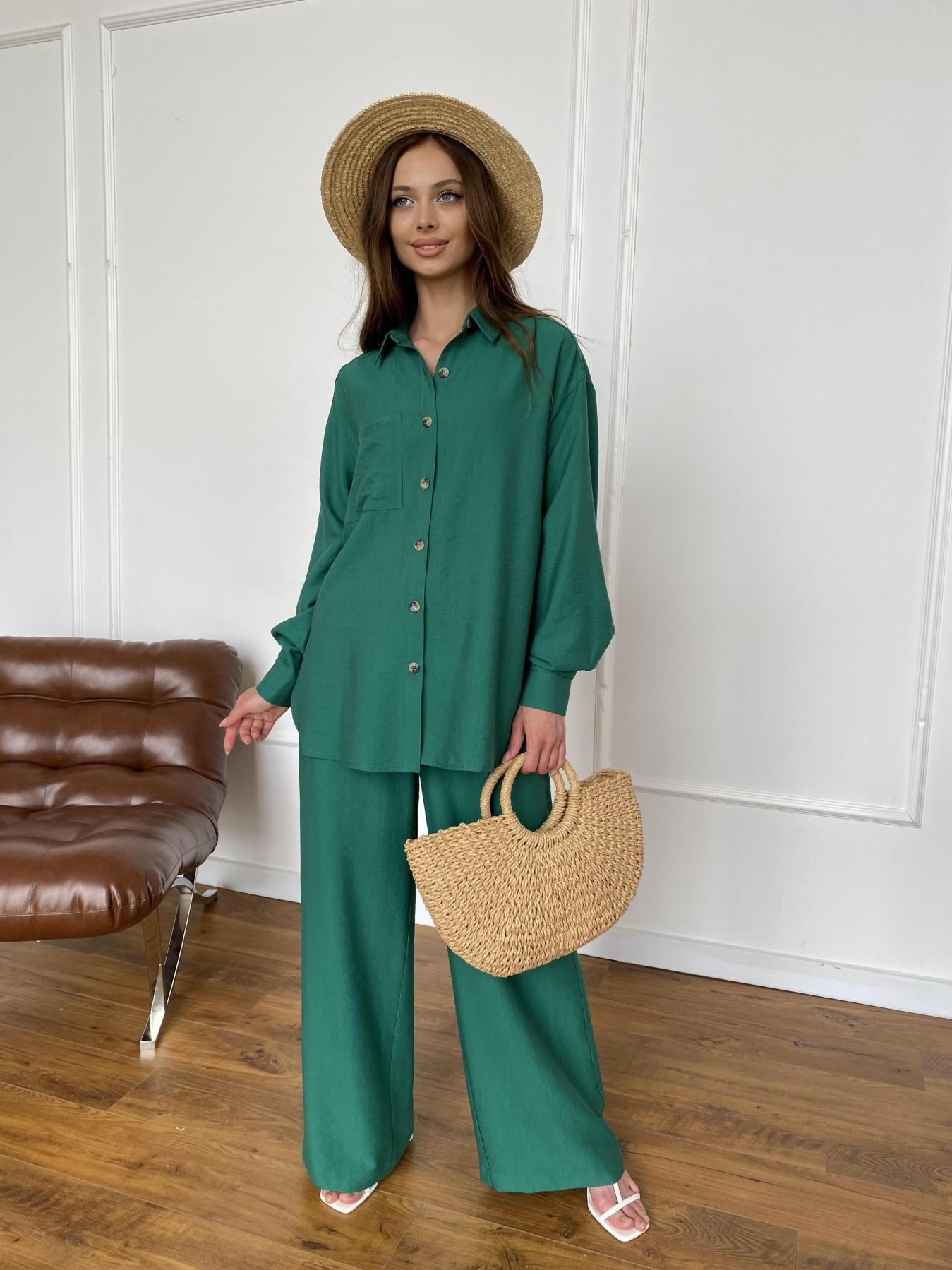 Дуэтто костюм из льна жатка не стрейч 11413 АРТ. 47961 Цвет: Зеленый - фото 8, интернет магазин tm-modus.ru