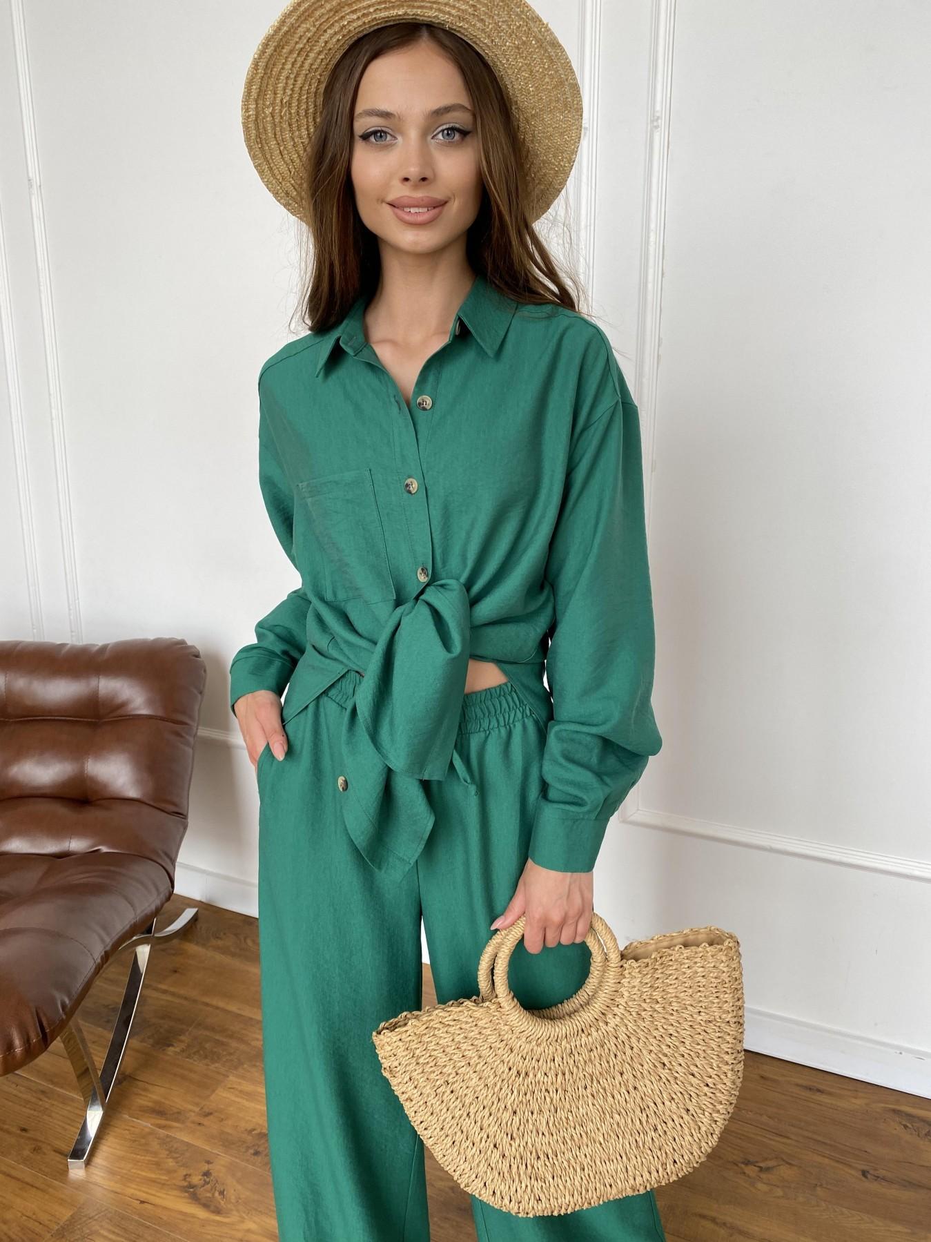 Дуэтто костюм из льна жатка не стрейч 11413 АРТ. 47961 Цвет: Зеленый - фото 9, интернет магазин tm-modus.ru