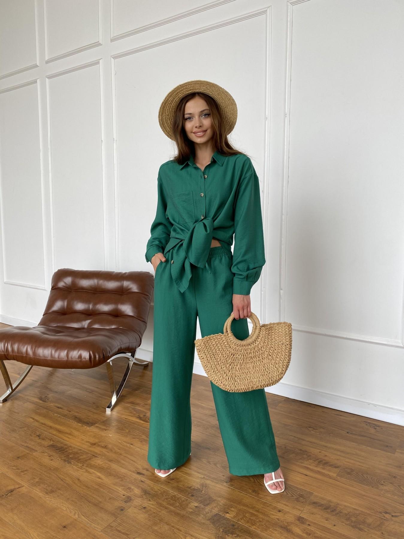 Дуэтто костюм из льна жатка не стрейч 11413 АРТ. 47961 Цвет: Зеленый - фото 10, интернет магазин tm-modus.ru