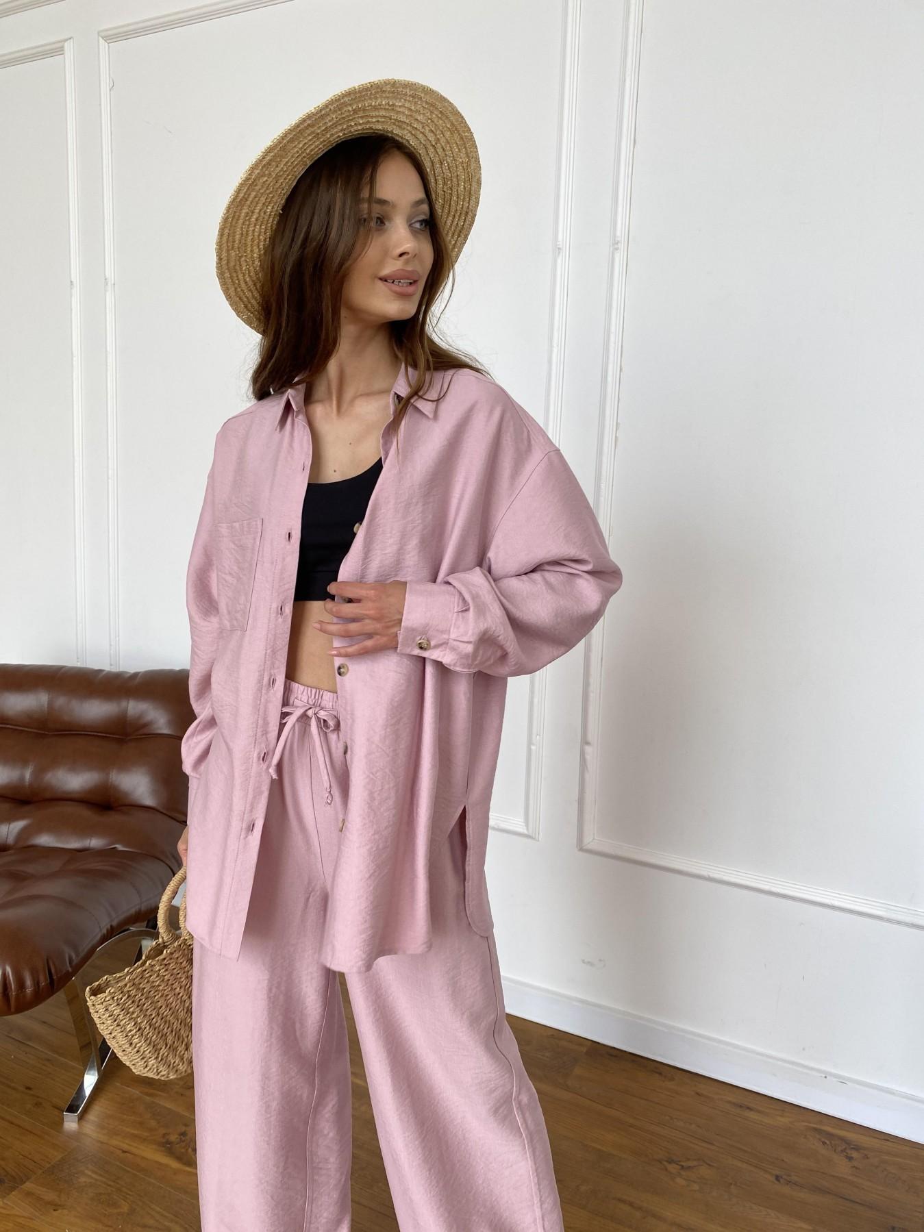 Купить женскую одежду оптом Дуэтто костюм из льна жатка не стрейч 11413