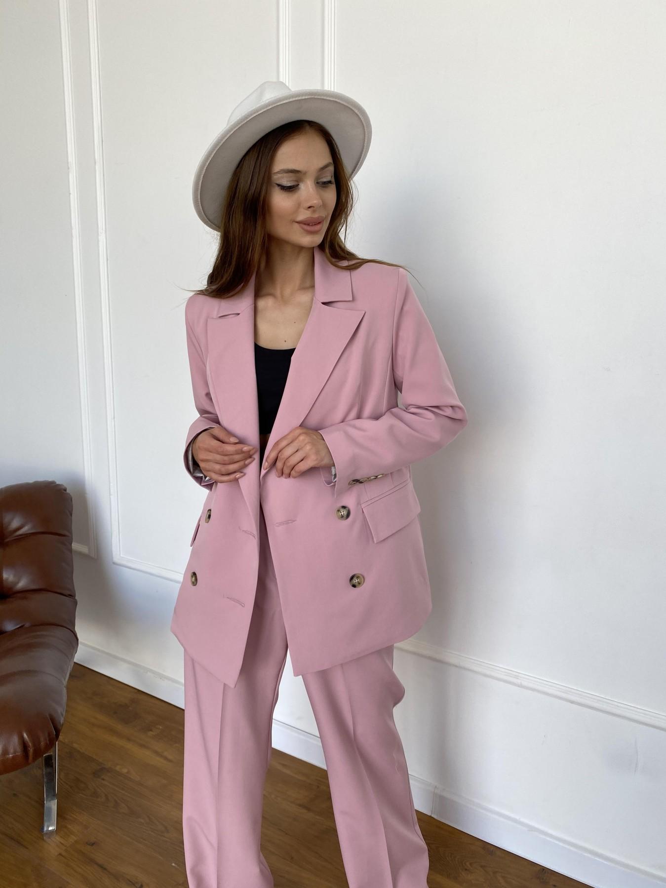 Белисимо  костюм стрейч из костюмной ткани 11217 АРТ. 47981 Цвет: Пудра 2 - фото 4, интернет магазин tm-modus.ru