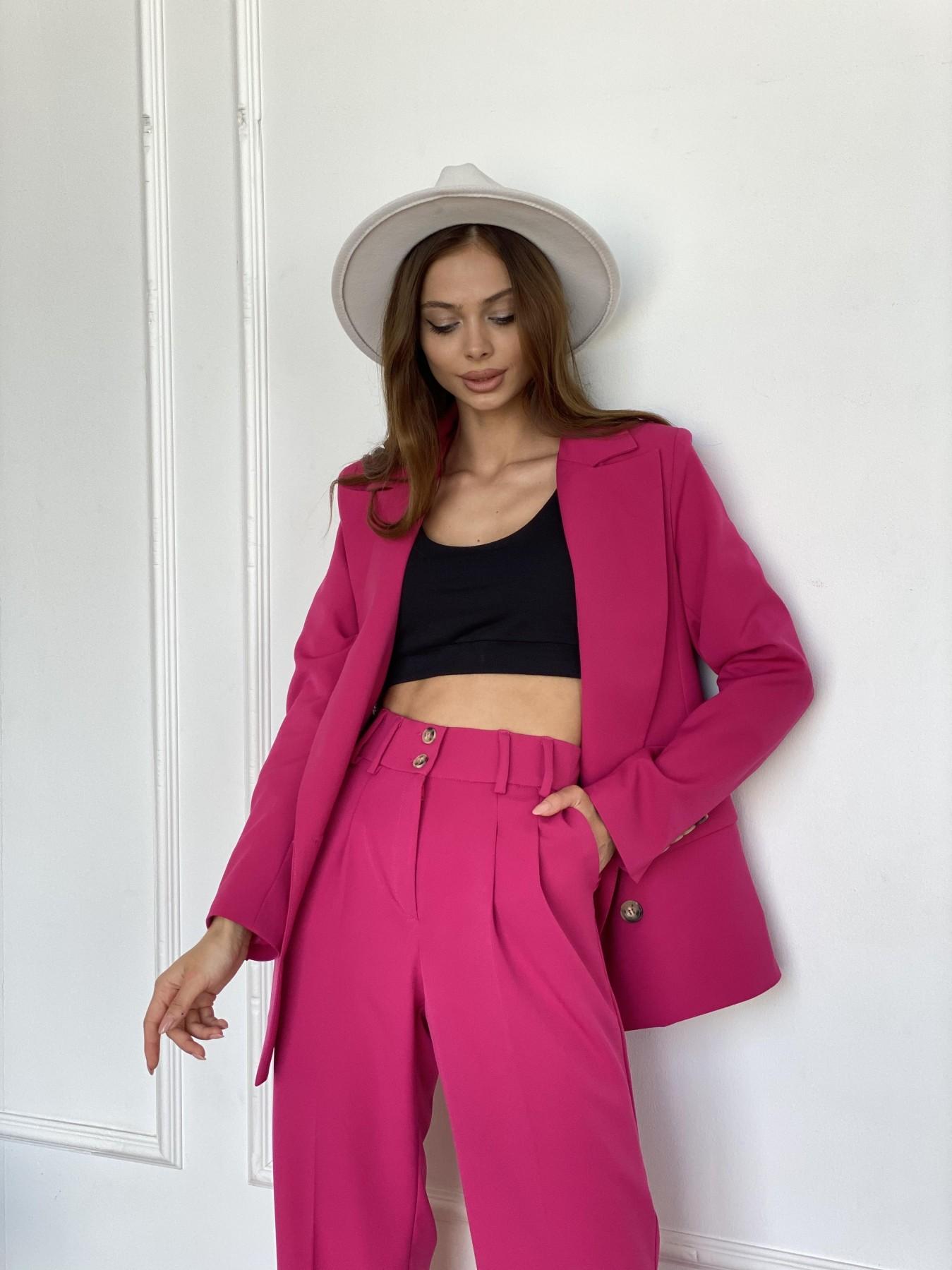 Белисимо  костюм стрейч из костюмной ткани 11217 АРТ. 47818 Цвет: Малиновый 2 - фото 2, интернет магазин tm-modus.ru