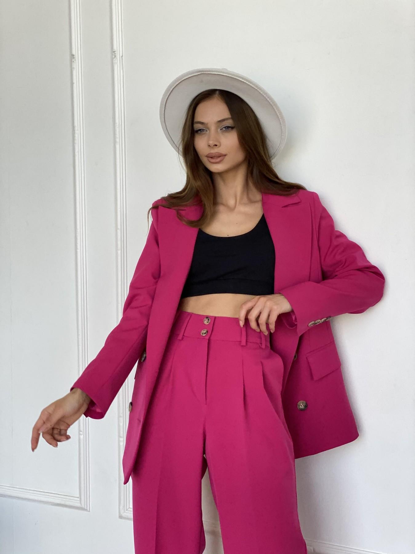 Белисимо  костюм стрейч из костюмной ткани 11217 АРТ. 47818 Цвет: Малиновый 2 - фото 3, интернет магазин tm-modus.ru