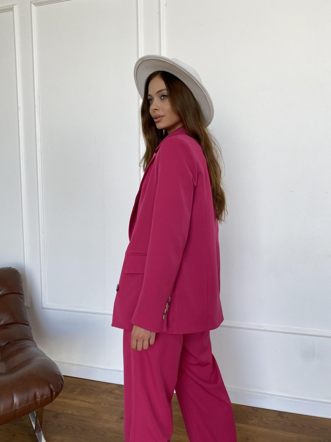 Белисимо  костюм стрейч из костюмной ткани 11217 АРТ. 47818 Цвет: Малиновый 2 - фото 7, интернет магазин tm-modus.ru