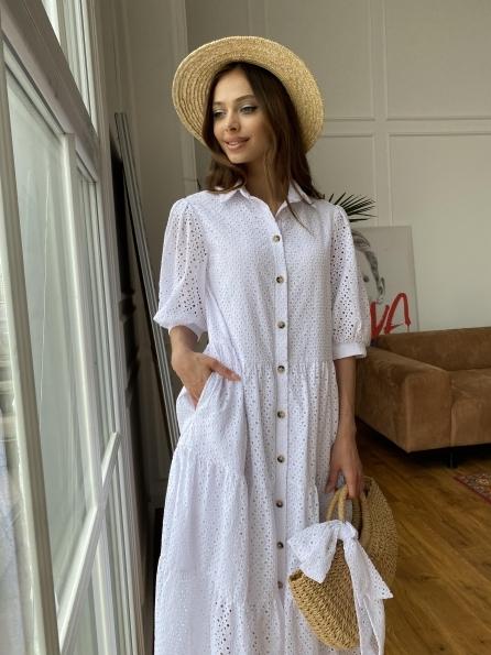 """Купить """"Коста Бланка"""" платье с коротким рукавом из шитья 11359 оптом и в розницу"""