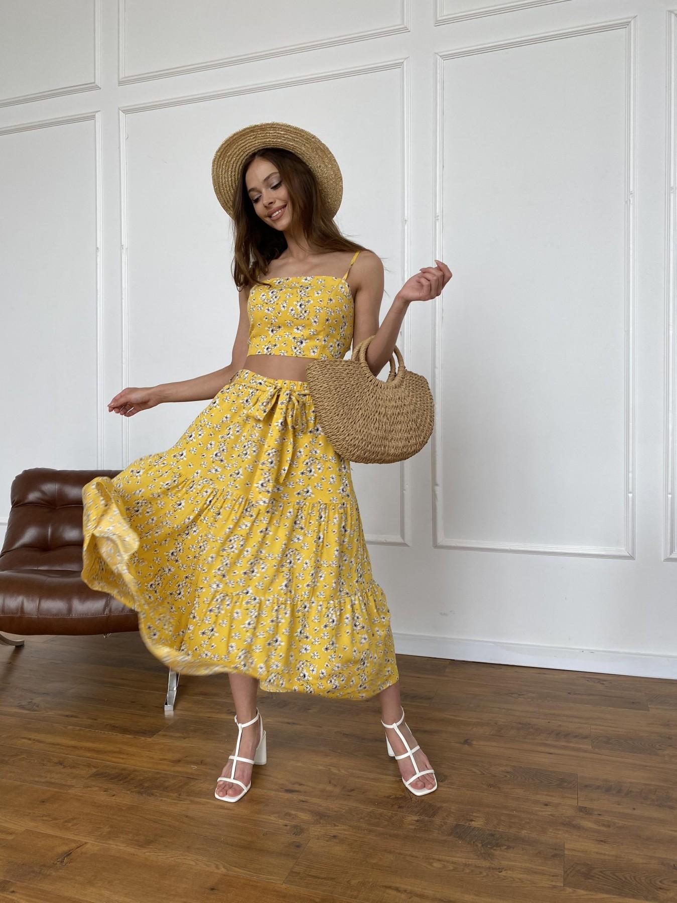 Женская одежда оптом от производителя Ницца костюм из штапеля с принтом 11412