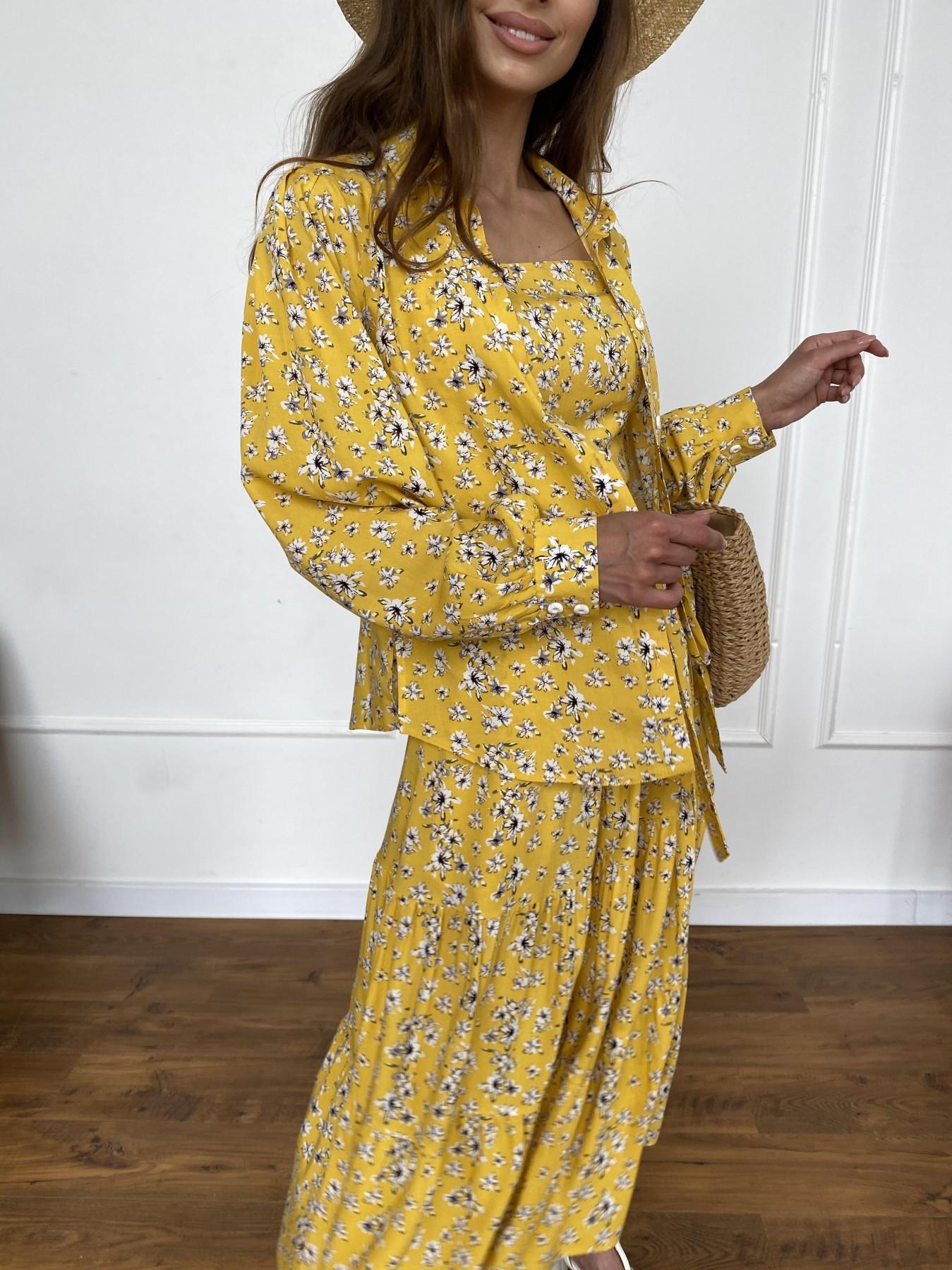 Ницца костюм из штапеля с принтом 11412 АРТ. 47960 Цвет: Желтый/БелыеЦветочки - фото 8, интернет магазин tm-modus.ru