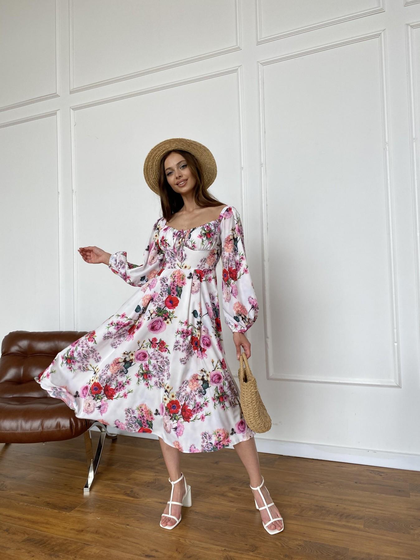 Натали платье софт принт бистрейч 11196 АРТ. 47830 Цвет: ВесенБукетМол/Роз/Крас - фото 1, интернет магазин tm-modus.ru