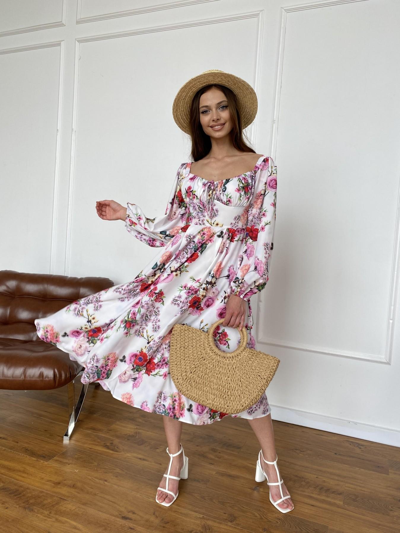 Платья от украинского производителя  Натали платье софт принт бистрейч 11196