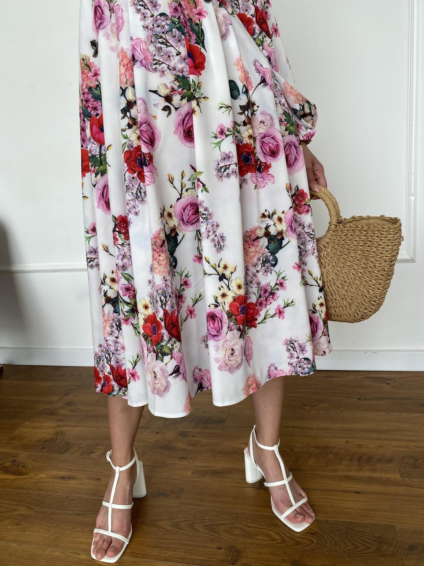 Натали платье софт принт бистрейч 11196 АРТ. 47830 Цвет: ВесенБукетМол/Роз/Крас - фото 5, интернет магазин tm-modus.ru
