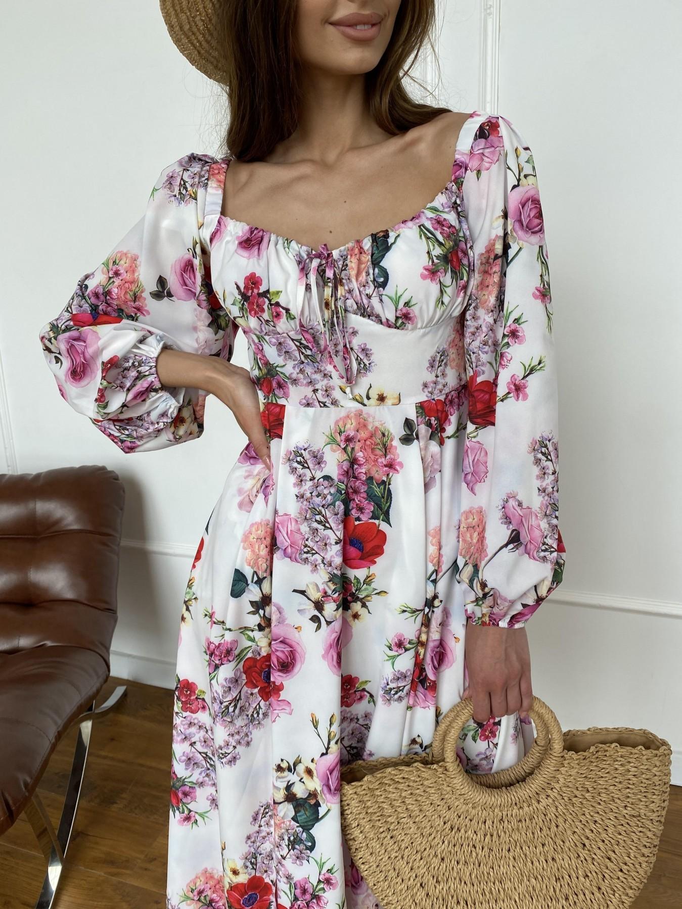 Натали платье софт принт бистрейч 11196 АРТ. 47830 Цвет: ВесенБукетМол/Роз/Крас - фото 6, интернет магазин tm-modus.ru