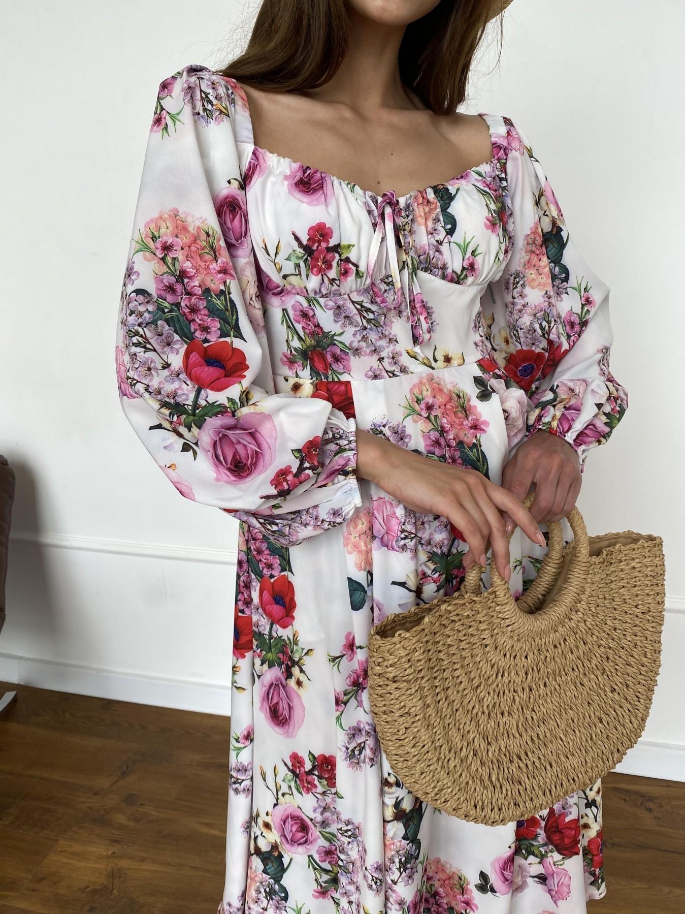 Натали платье софт принт бистрейч 11196 АРТ. 47830 Цвет: ВесенБукетМол/Роз/Крас - фото 7, интернет магазин tm-modus.ru
