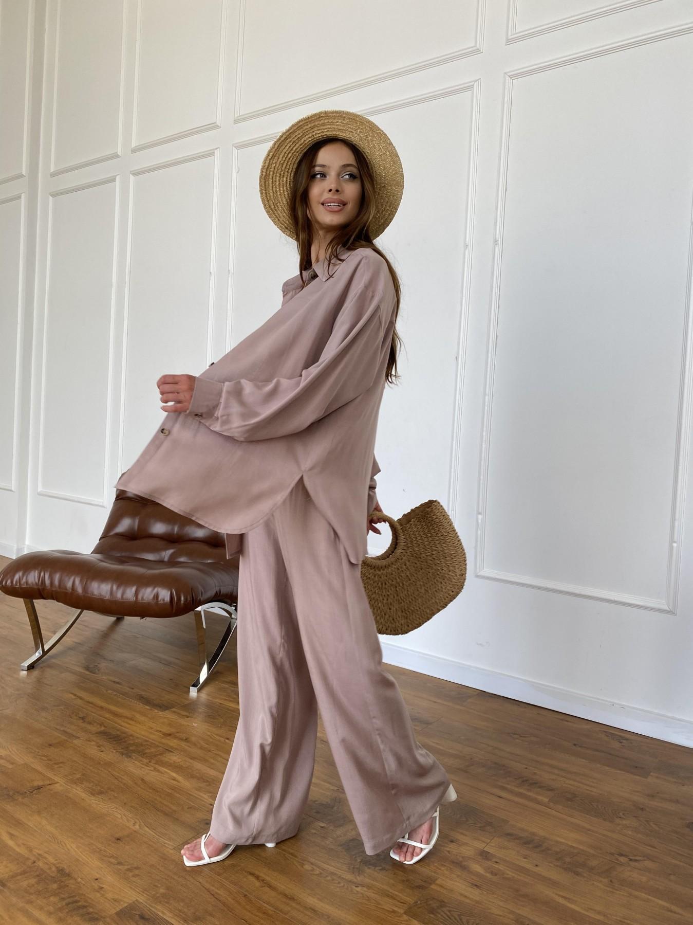 Дуэтто костюм из льна и вискозы не стрейч 11415 АРТ. 47964 Цвет: Кофе - фото 4, интернет магазин tm-modus.ru