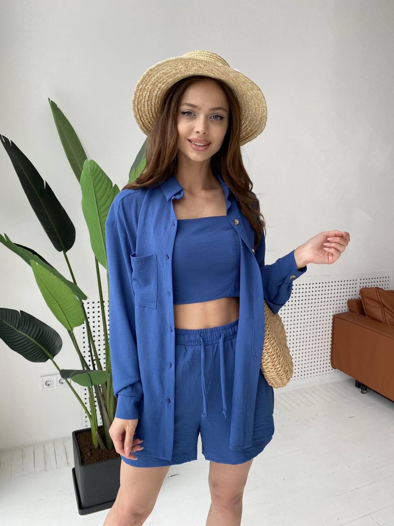 Квадро костюм американский из ткани креп (4 ед) 11303 АРТ. 47955 Цвет: Синий - фото 7, интернет магазин tm-modus.ru