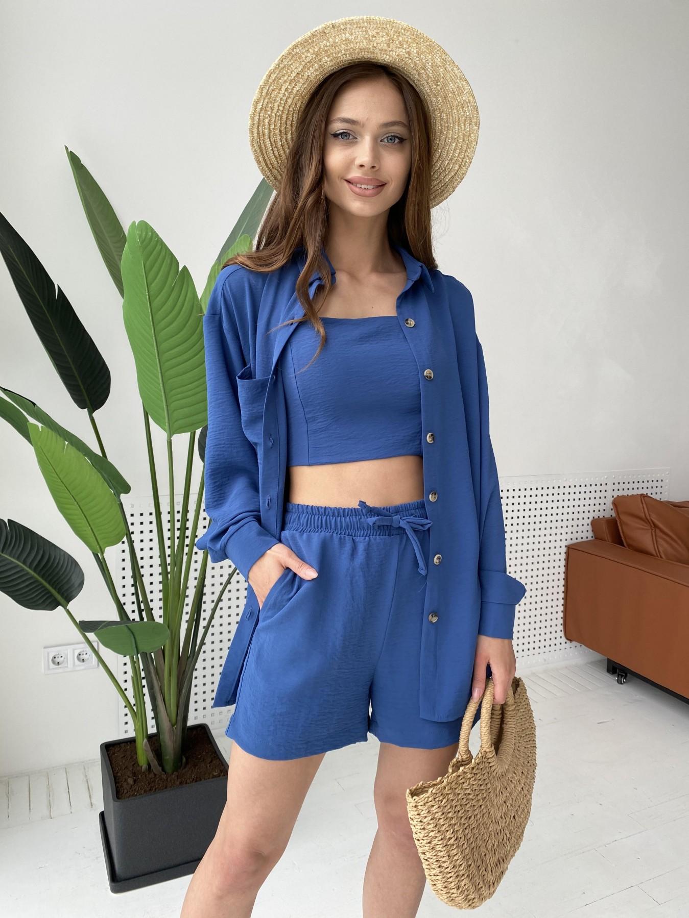 Квадро костюм американский из ткани креп (4 ед) 11303 АРТ. 47955 Цвет: Синий - фото 8, интернет магазин tm-modus.ru