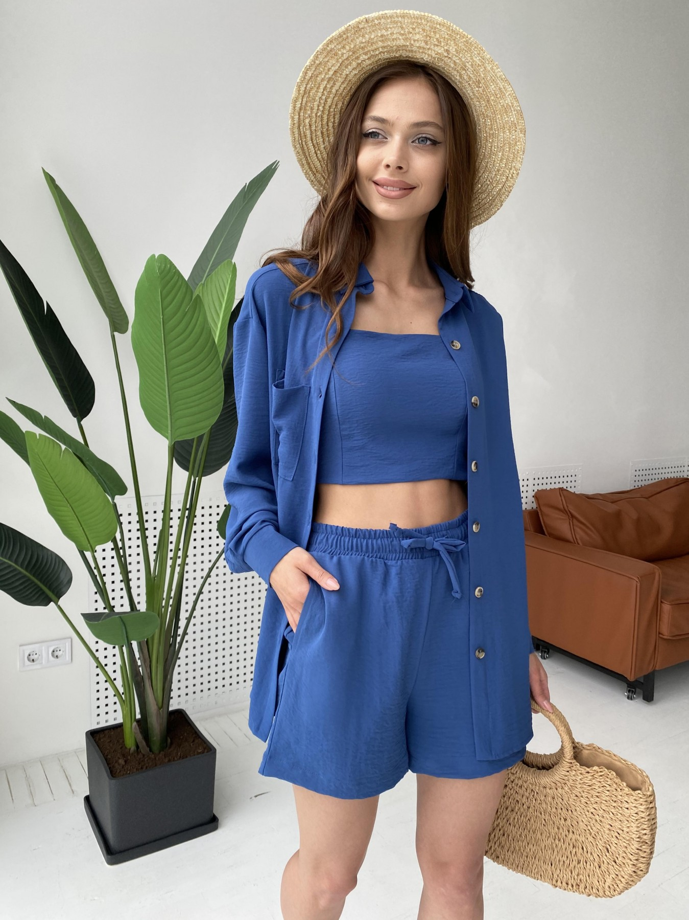 Квадро костюм американский из ткани креп (4 ед) 11303 АРТ. 47955 Цвет: Синий - фото 9, интернет магазин tm-modus.ru