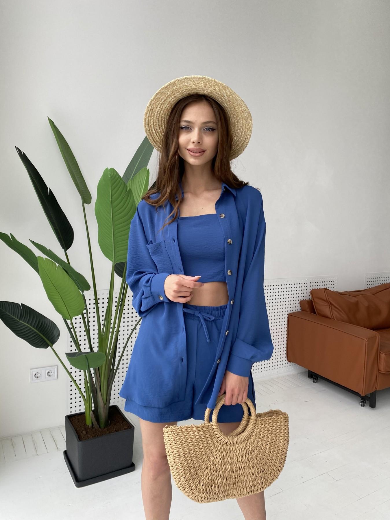 Квадро костюм американский из ткани креп (4 ед) 11303 АРТ. 47955 Цвет: Синий - фото 10, интернет магазин tm-modus.ru