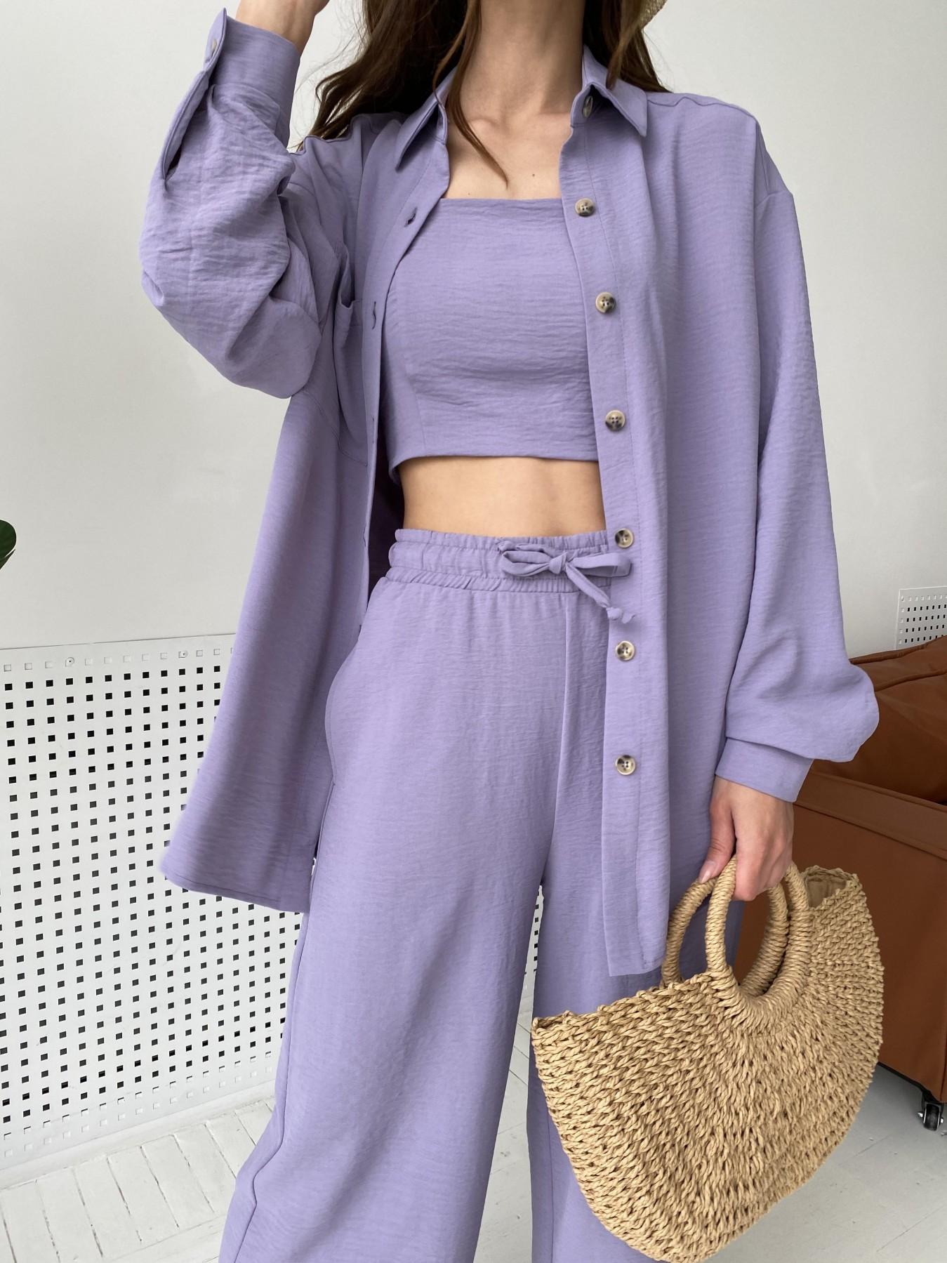 Квадро костюм американский из ткани креп (4 ед) 11303 АРТ. 47944 Цвет: Лаванда 2 - фото 2, интернет магазин tm-modus.ru