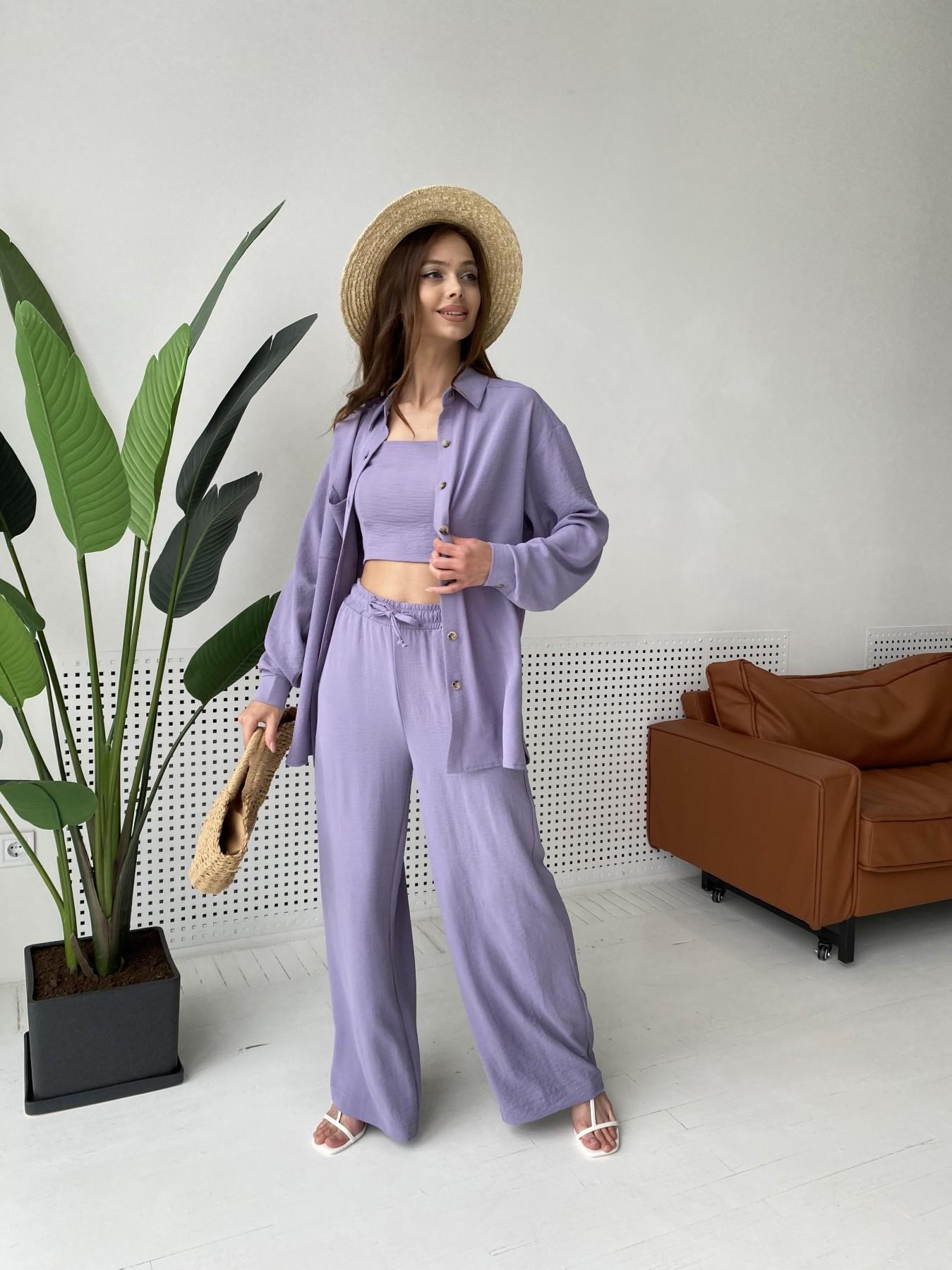 Квадро костюм американский из ткани креп (4 ед) 11303 АРТ. 47944 Цвет: Лаванда 2 - фото 4, интернет магазин tm-modus.ru