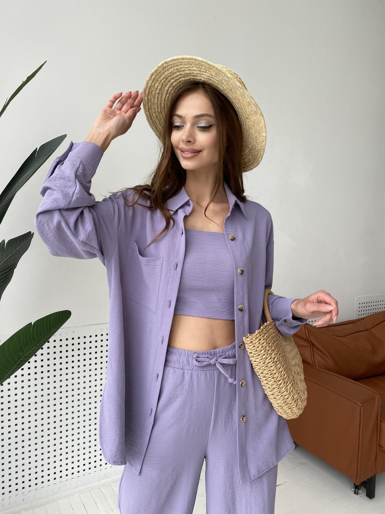 Квадро костюм американский из ткани креп (4 ед) 11303 АРТ. 47944 Цвет: Лаванда 2 - фото 7, интернет магазин tm-modus.ru