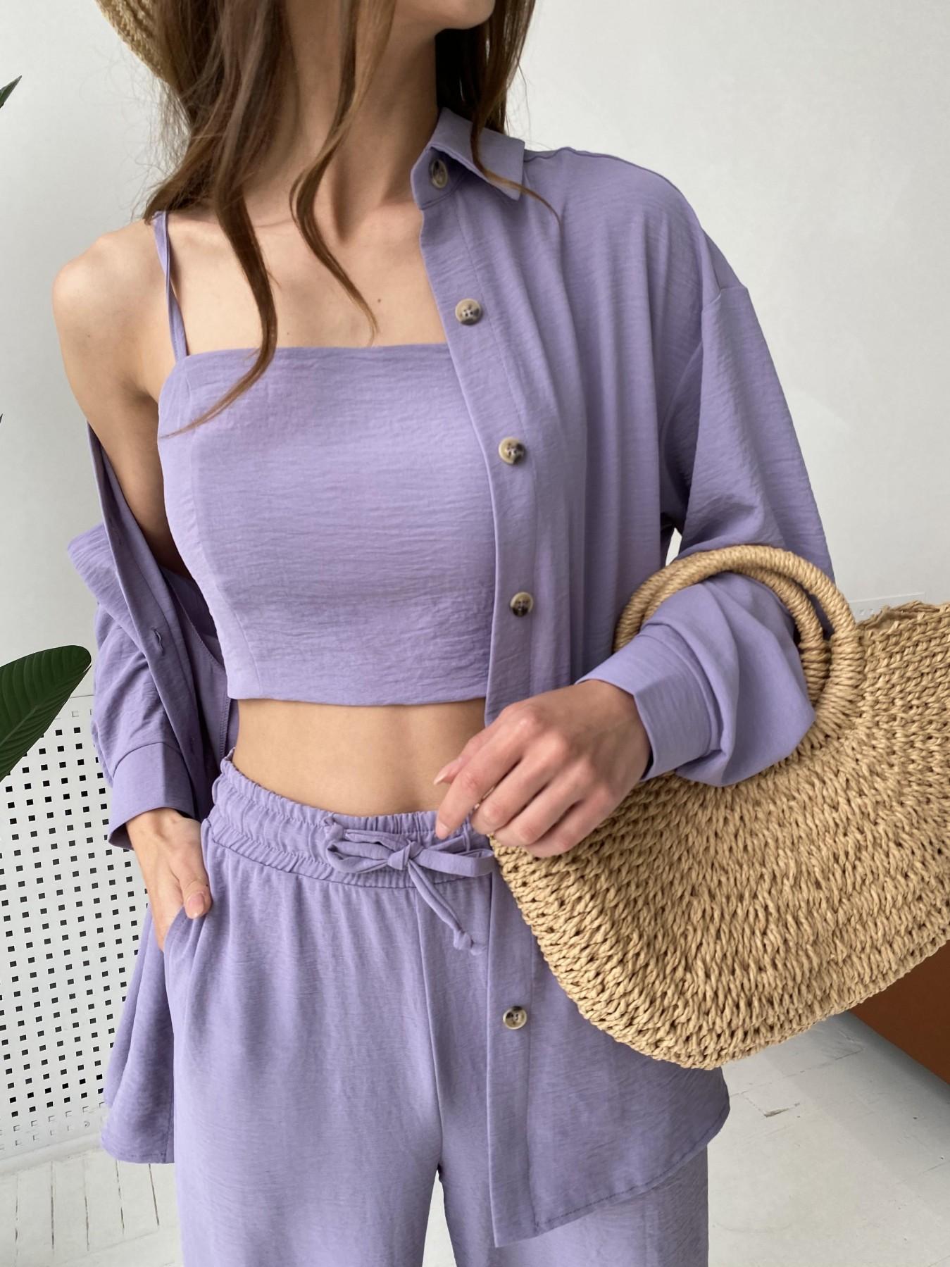 Квадро костюм американский из ткани креп (4 ед) 11303 АРТ. 47944 Цвет: Лаванда 2 - фото 8, интернет магазин tm-modus.ru