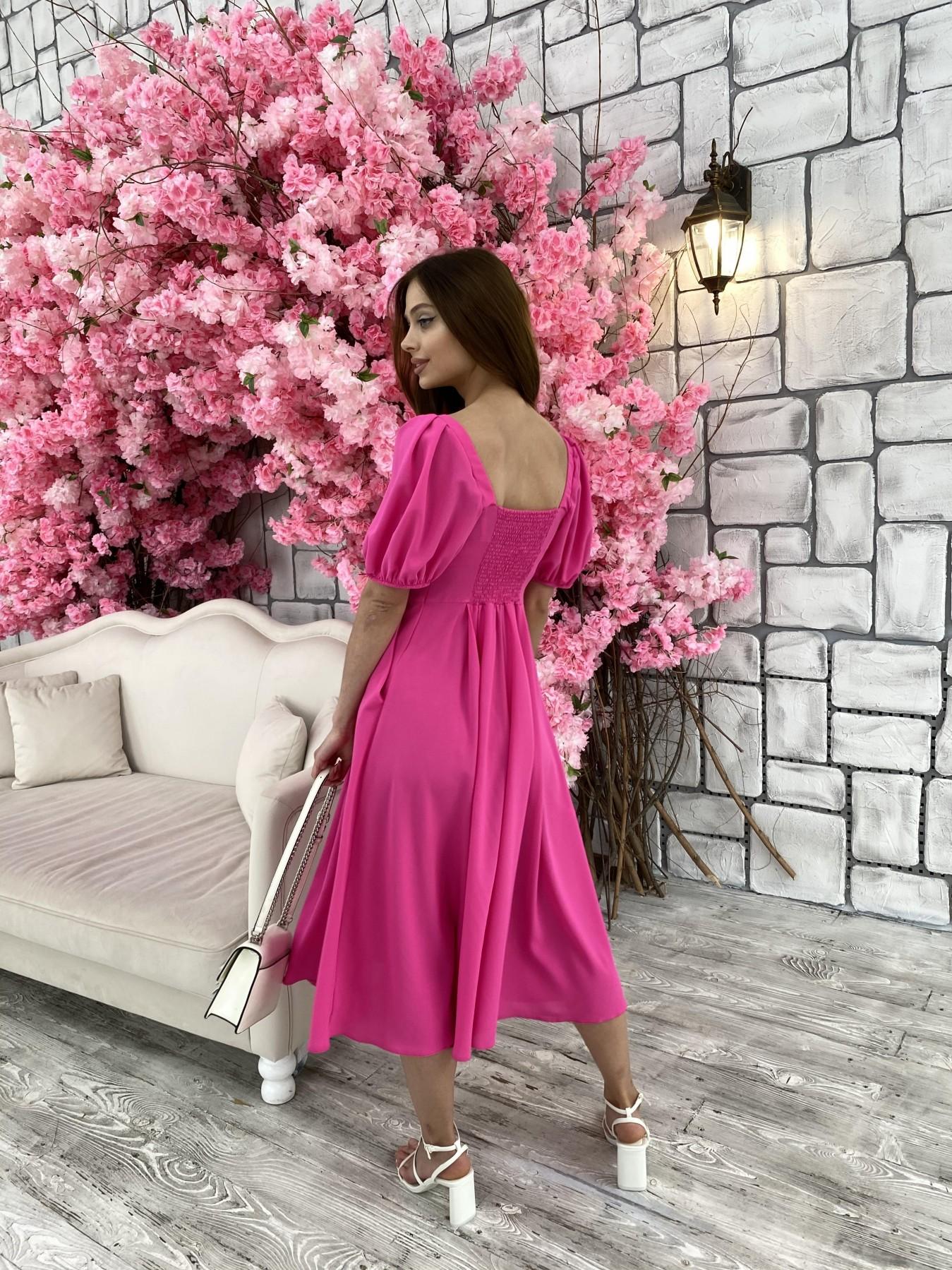 Кисес Миди платье из шифона креп 11443 АРТ. 48015 Цвет: Малиновый - фото 10, интернет магазин tm-modus.ru