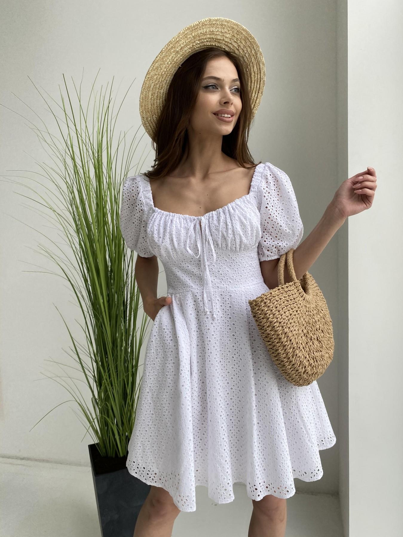Купить платья оптом Украина Кисес мини платье из прошвы 11439