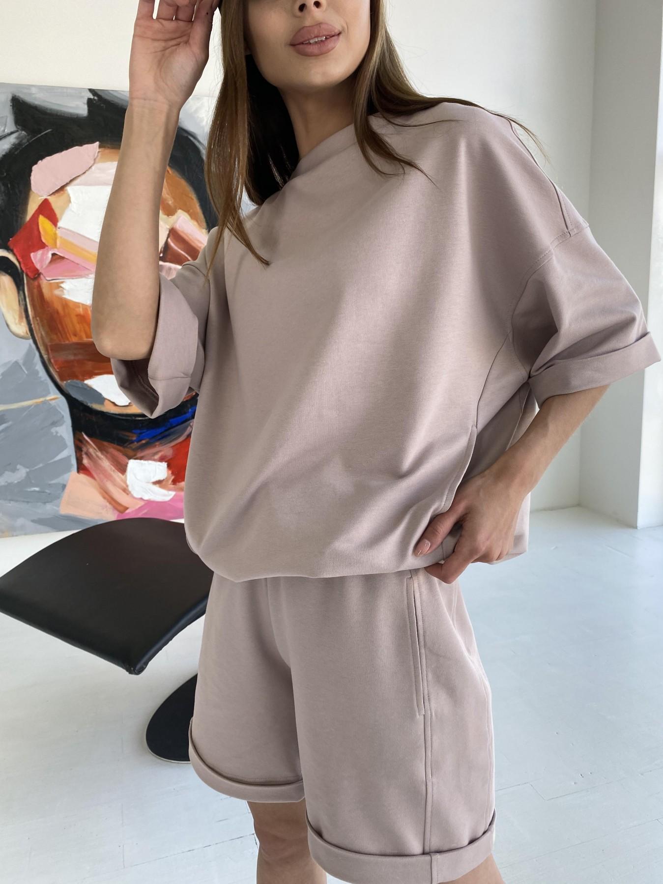 Фарт 3 костюм трикотажный 2х нитка из вискозы 11394 АРТ. 47931 Цвет: Пудра/белый - фото 6, интернет магазин tm-modus.ru