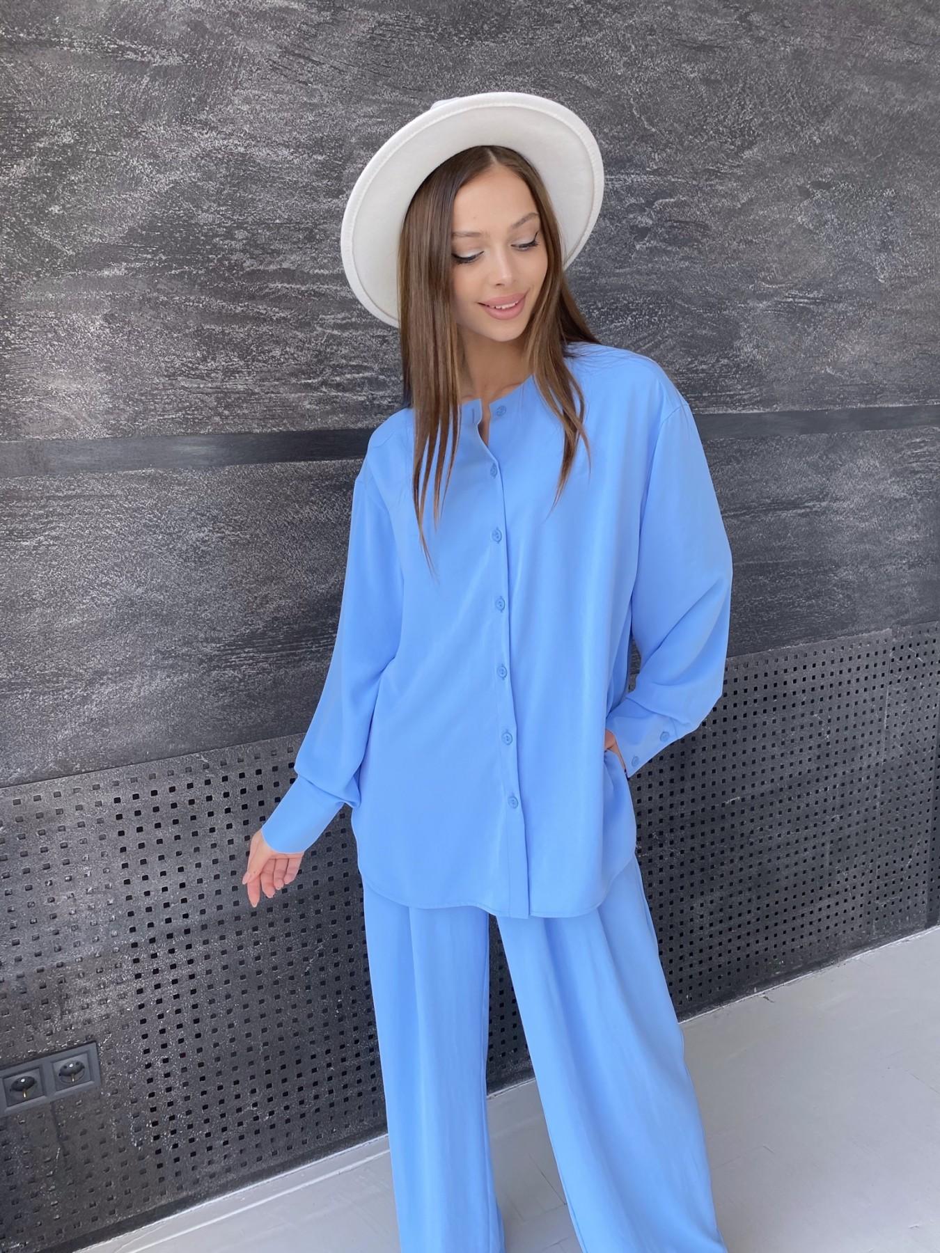 Карите костюм из американского крепа 11380 АРТ. 47915 Цвет: Голубой - фото 1, интернет магазин tm-modus.ru
