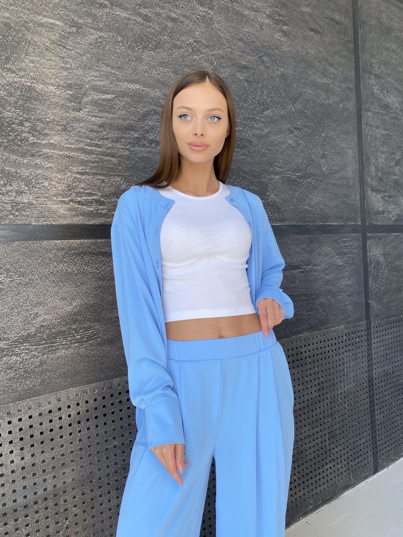 Карите костюм из американского крепа 11380 АРТ. 47915 Цвет: Голубой - фото 3, интернет магазин tm-modus.ru