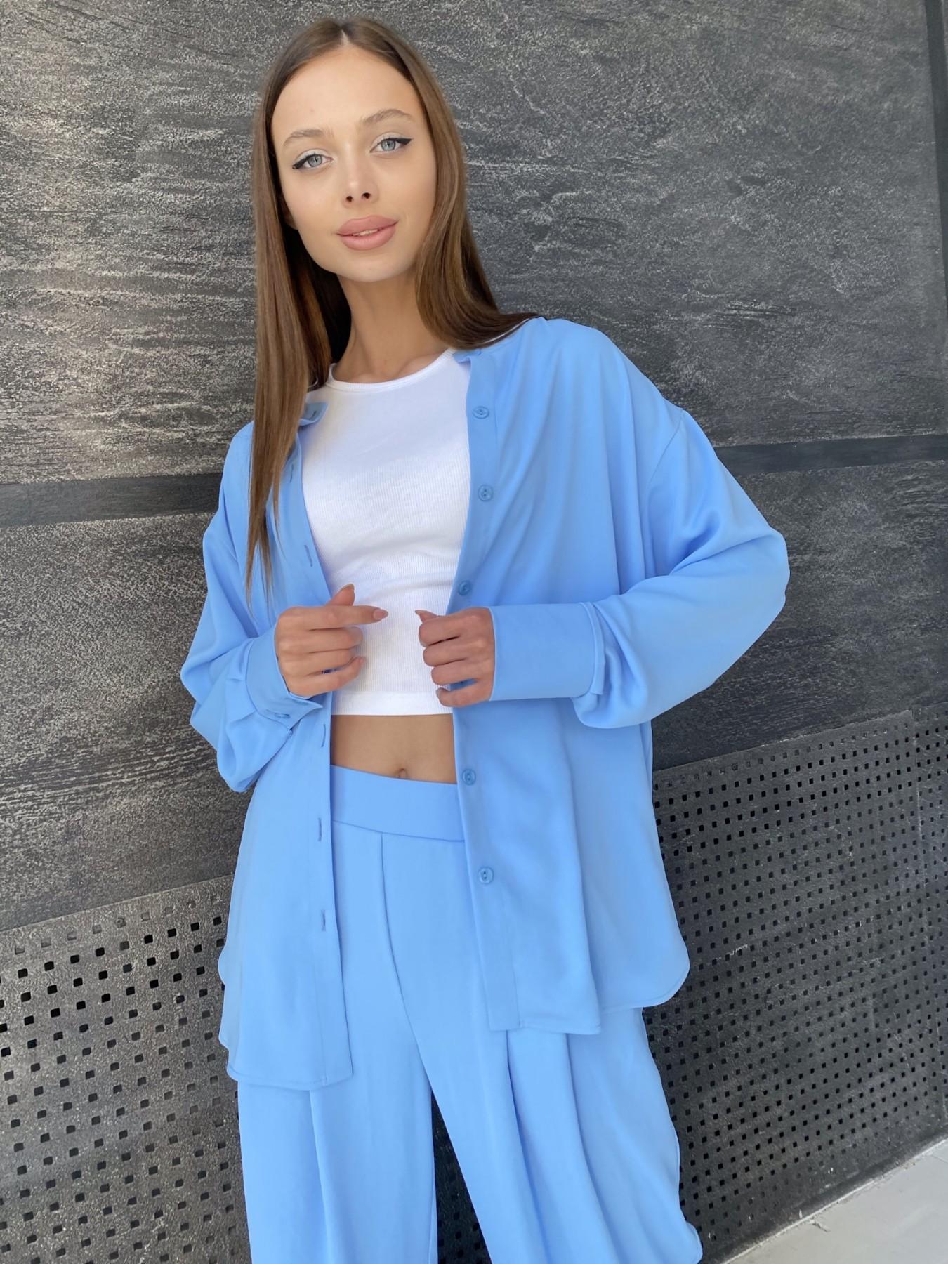 Карите костюм из американского крепа 11380 АРТ. 47915 Цвет: Голубой - фото 7, интернет магазин tm-modus.ru