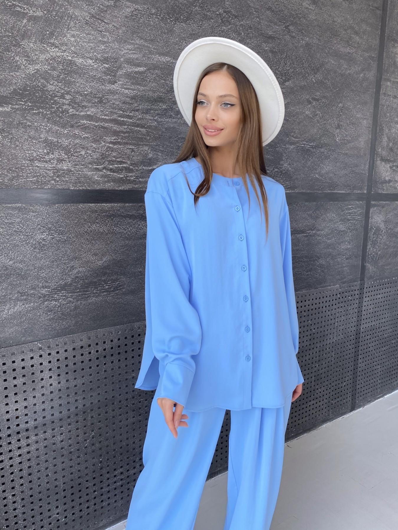 Карите костюм из американского крепа 11380 АРТ. 47915 Цвет: Голубой - фото 8, интернет магазин tm-modus.ru