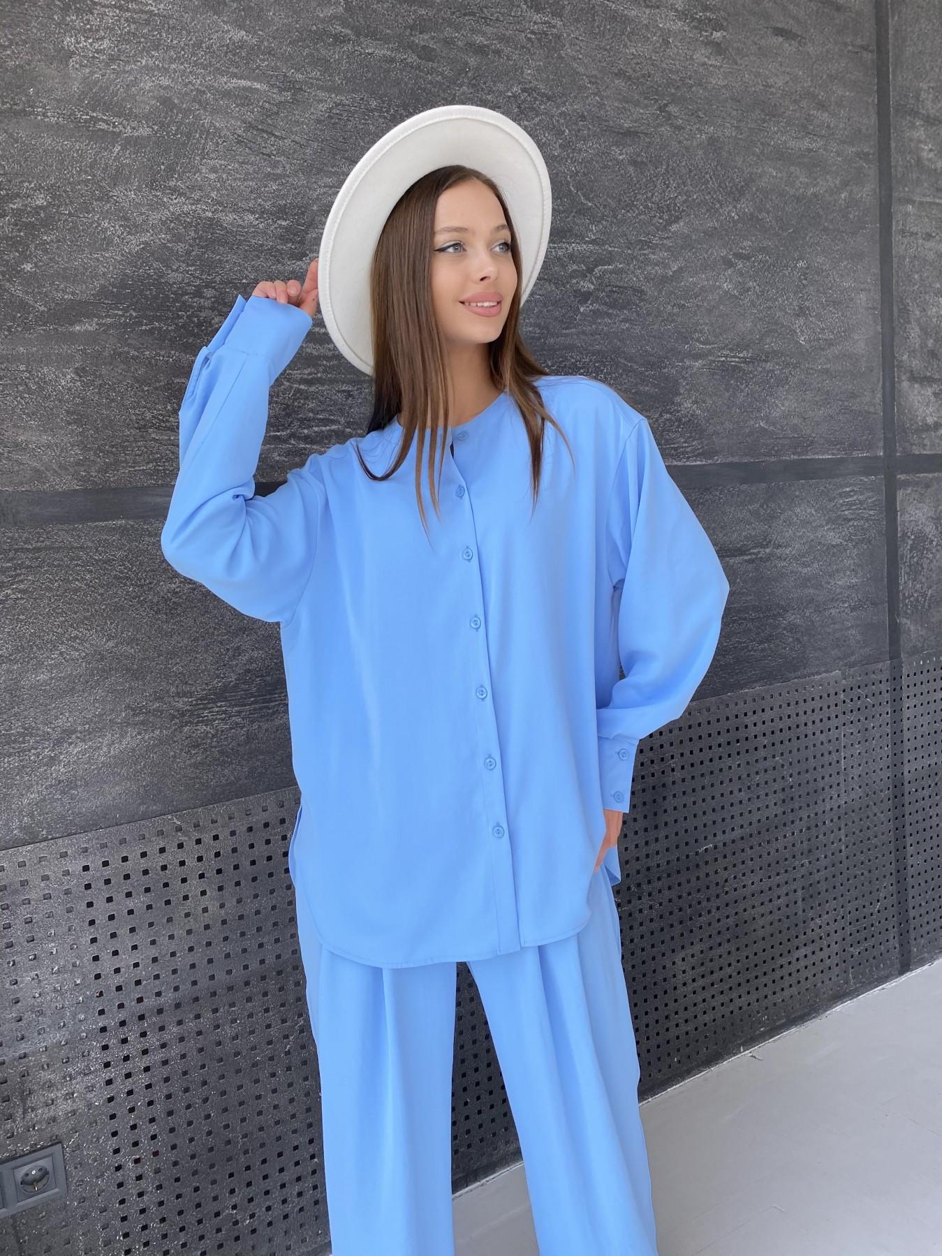 Карите костюм из американского крепа 11380 АРТ. 47915 Цвет: Голубой - фото 9, интернет магазин tm-modus.ru
