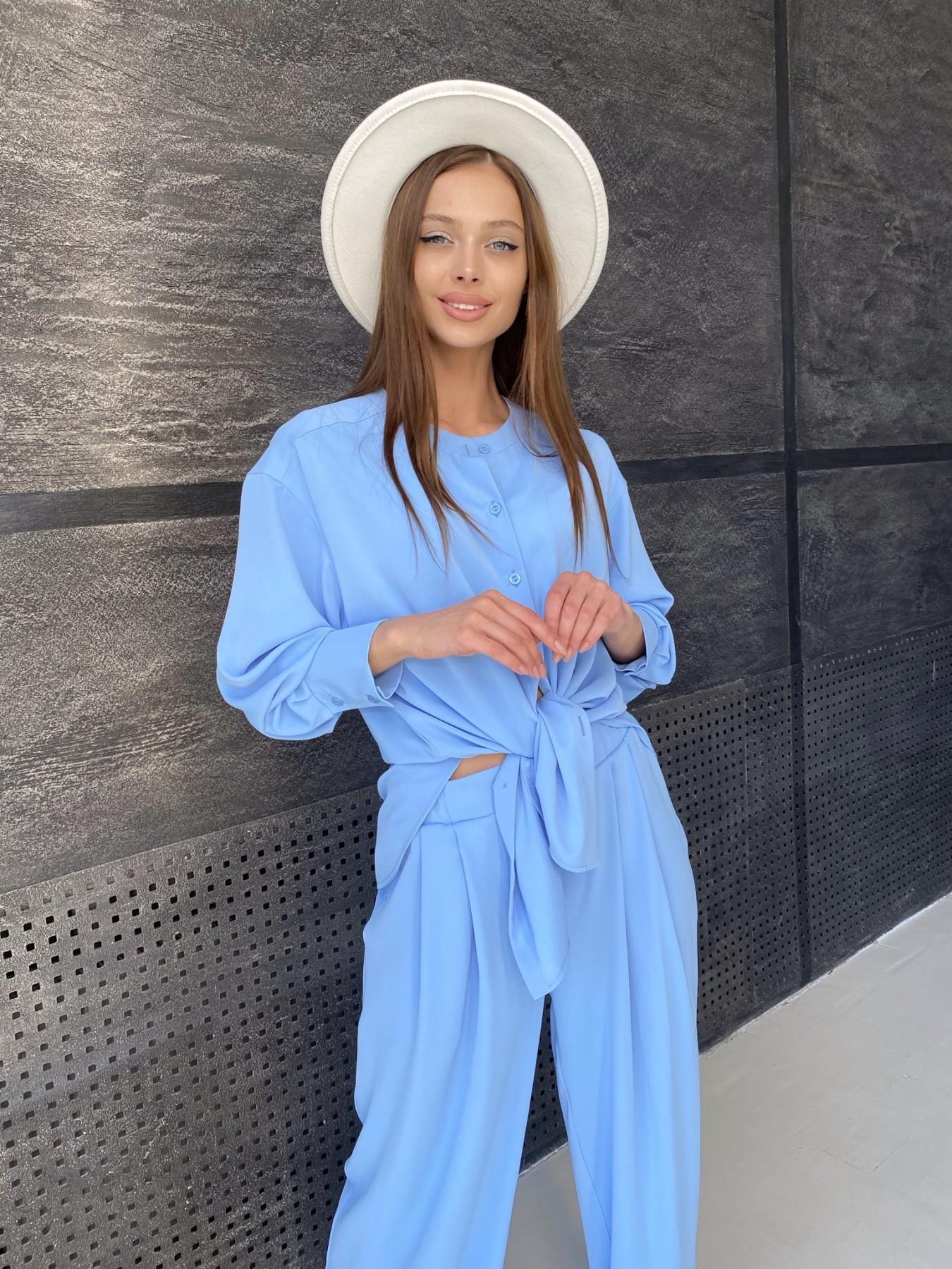 Карите костюм из американского крепа 11380 АРТ. 47915 Цвет: Голубой - фото 10, интернет магазин tm-modus.ru