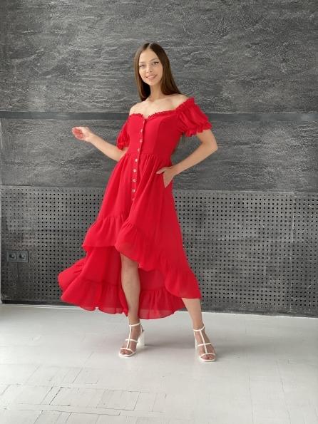 """Купить """"Нежность"""" платье из шифона креп креш 11464 оптом и в розницу"""