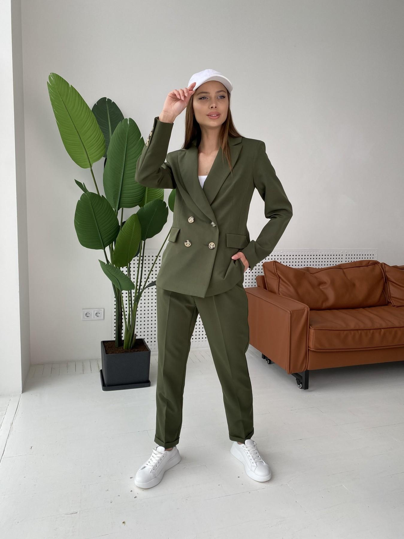 Франко костюм из костюмной ткани 11090 АРТ. 47970 Цвет: Хаки - фото 1, интернет магазин tm-modus.ru