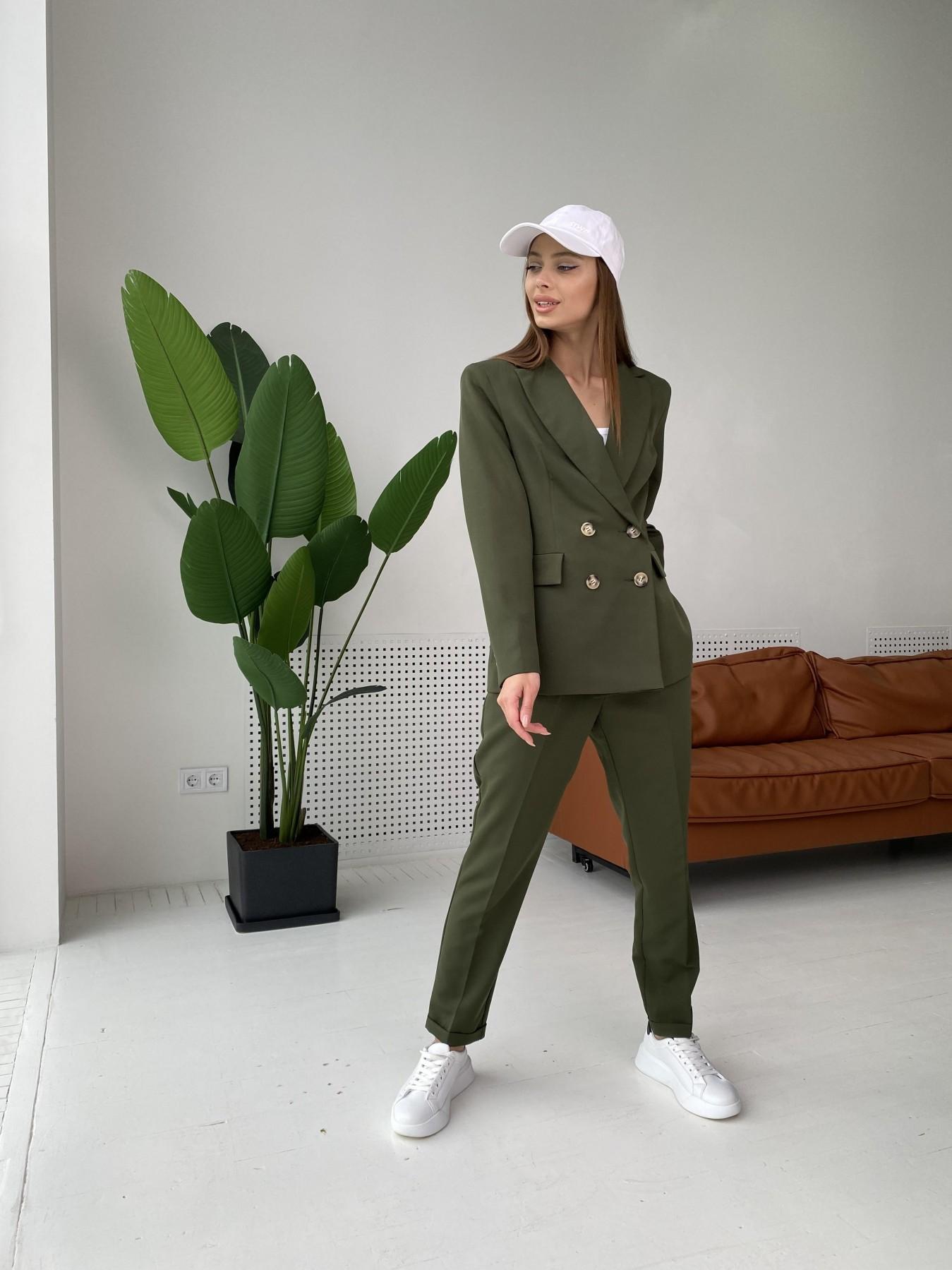Франко костюм из костюмной ткани 11090 АРТ. 47970 Цвет: Хаки - фото 4, интернет магазин tm-modus.ru