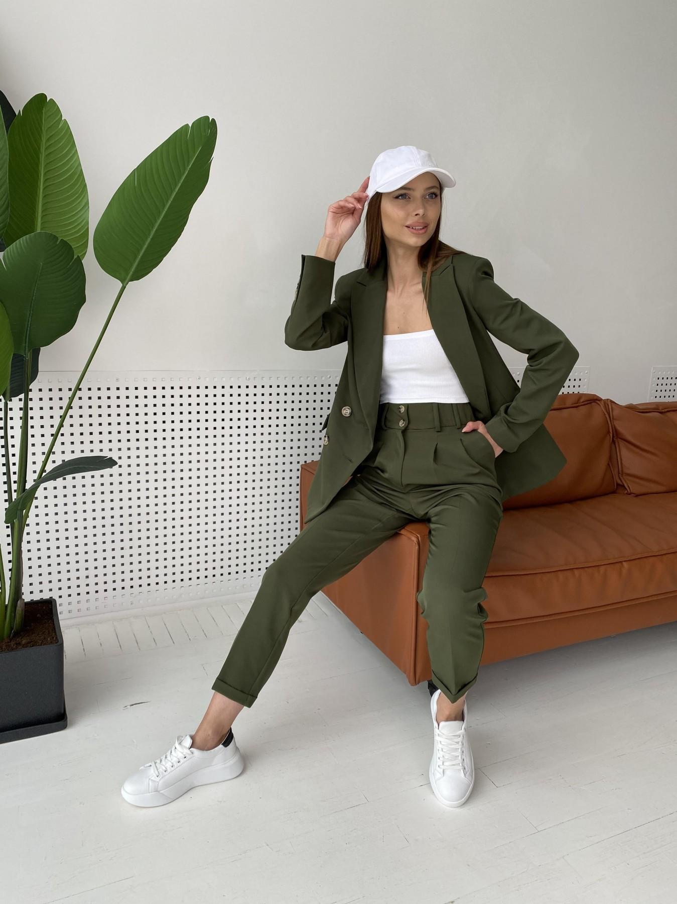 Франко костюм из костюмной ткани 11090 АРТ. 47970 Цвет: Хаки - фото 8, интернет магазин tm-modus.ru