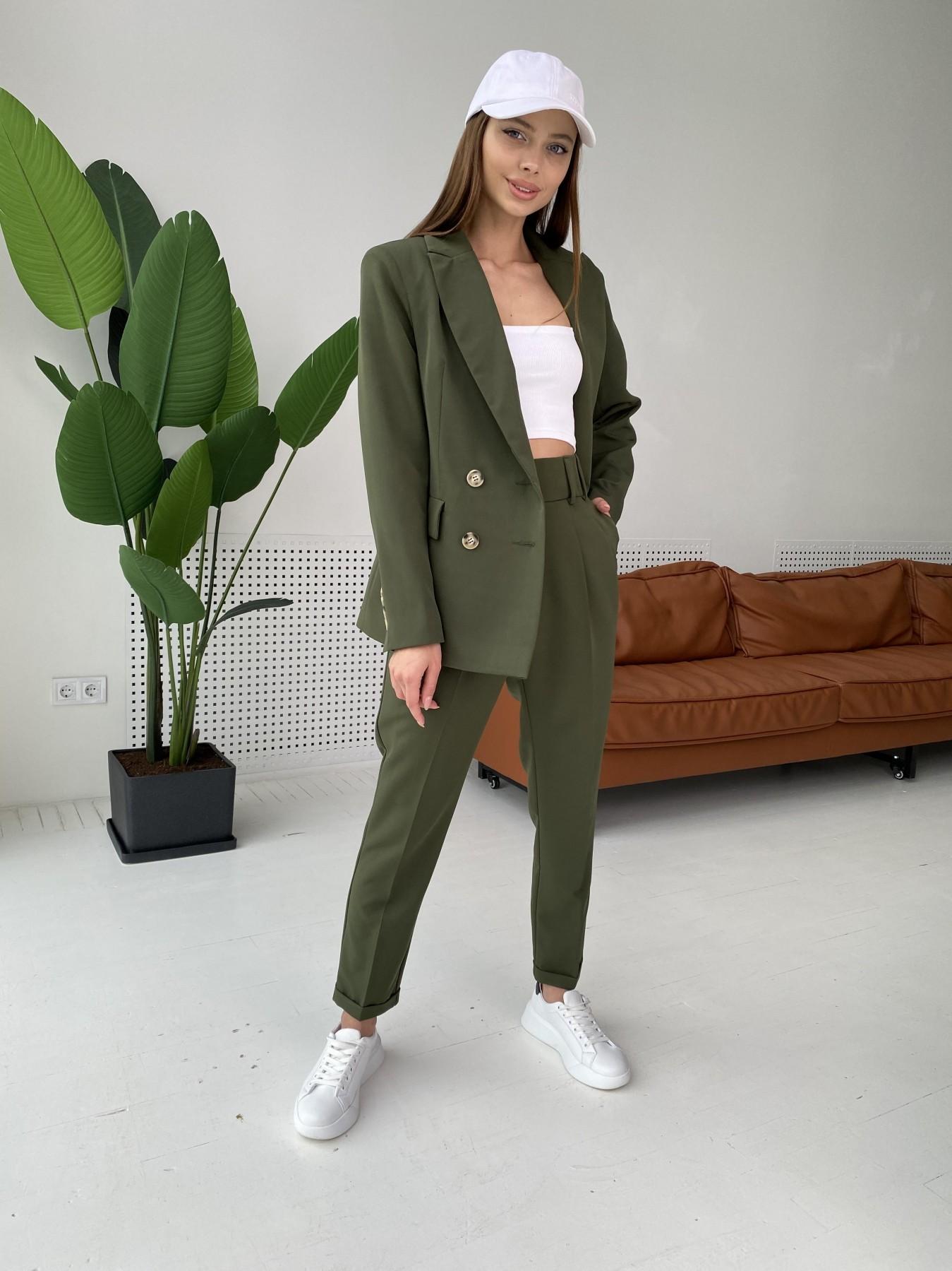 Франко костюм из костюмной ткани 11090 АРТ. 47970 Цвет: Хаки - фото 9, интернет магазин tm-modus.ru
