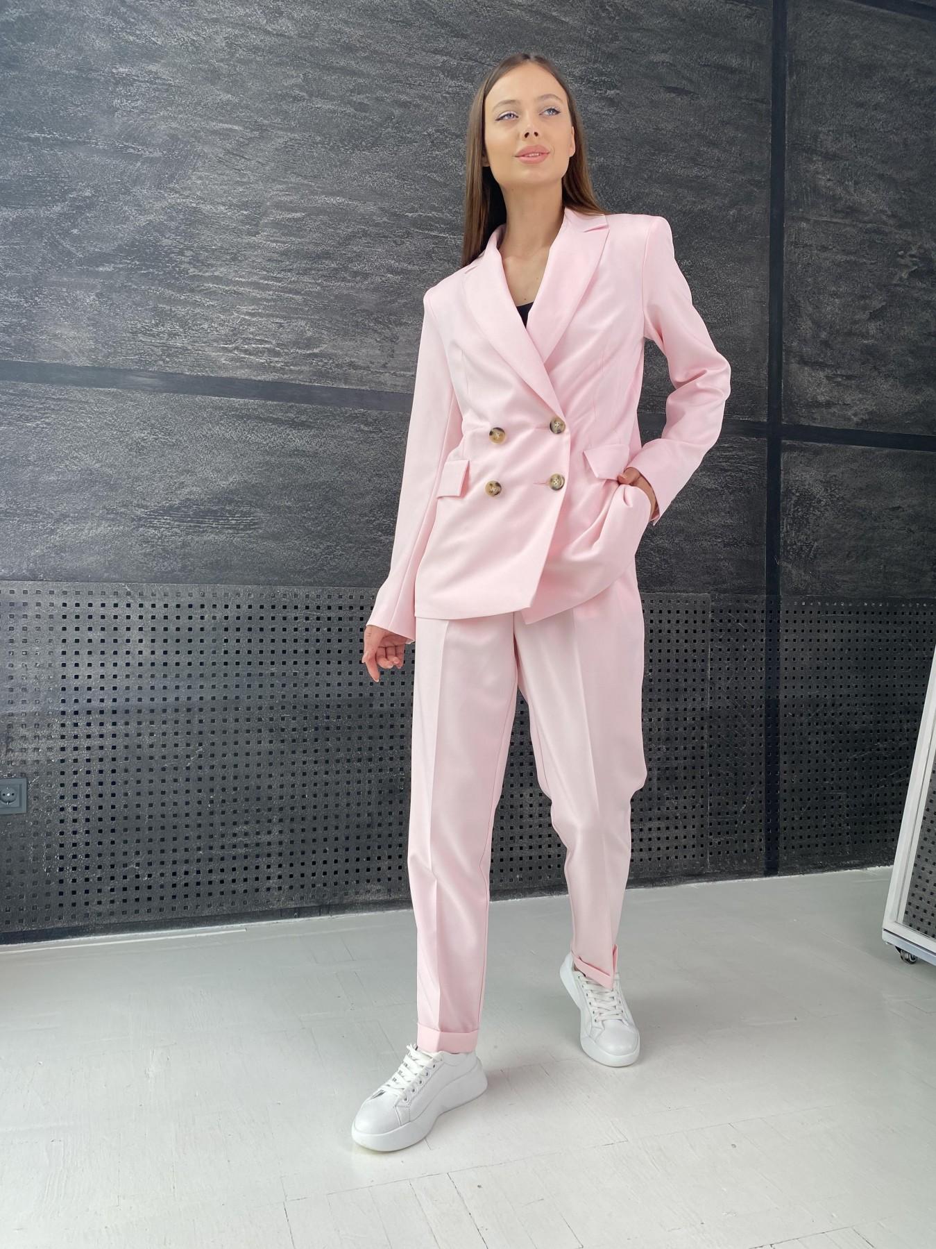 Франко костюм стрейчевый из костюмной ткани 11090 АРТ. 47977 Цвет: Розовый - фото 2, интернет магазин tm-modus.ru