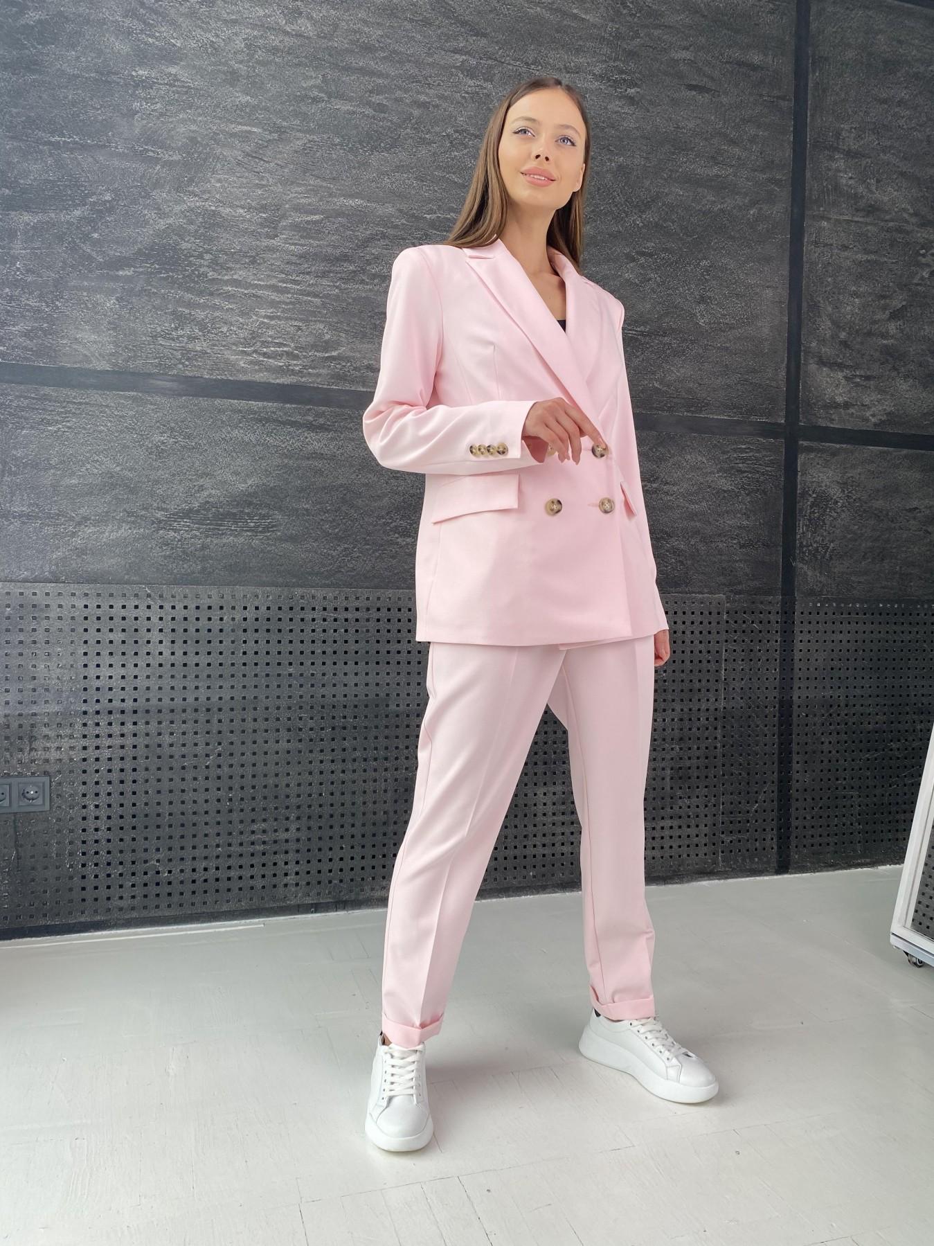 Франко костюм стрейчевый из костюмной ткани 11090 АРТ. 47977 Цвет: Розовый - фото 3, интернет магазин tm-modus.ru