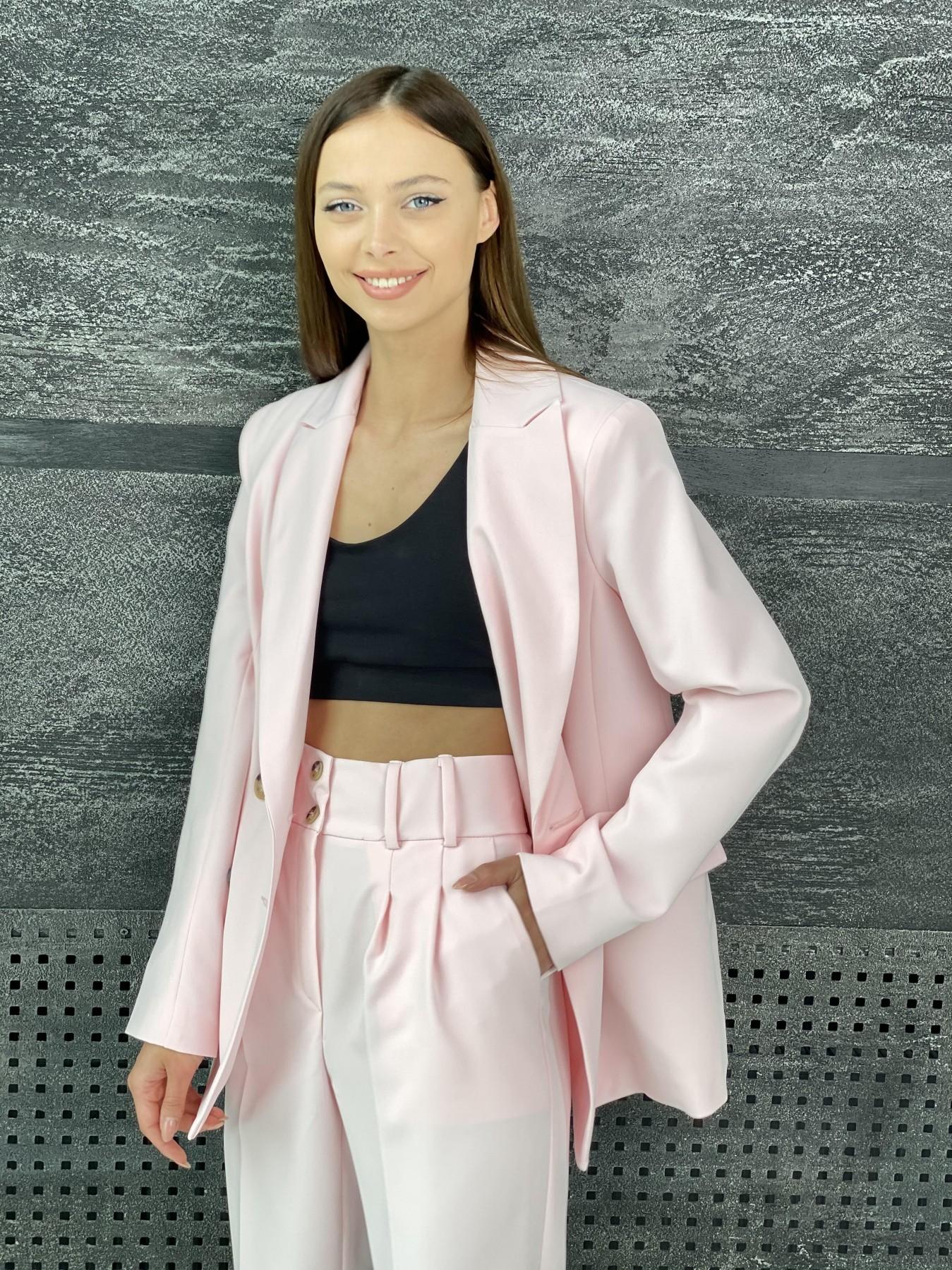 Франко костюм стрейчевый из костюмной ткани 11090 АРТ. 47977 Цвет: Розовый - фото 5, интернет магазин tm-modus.ru