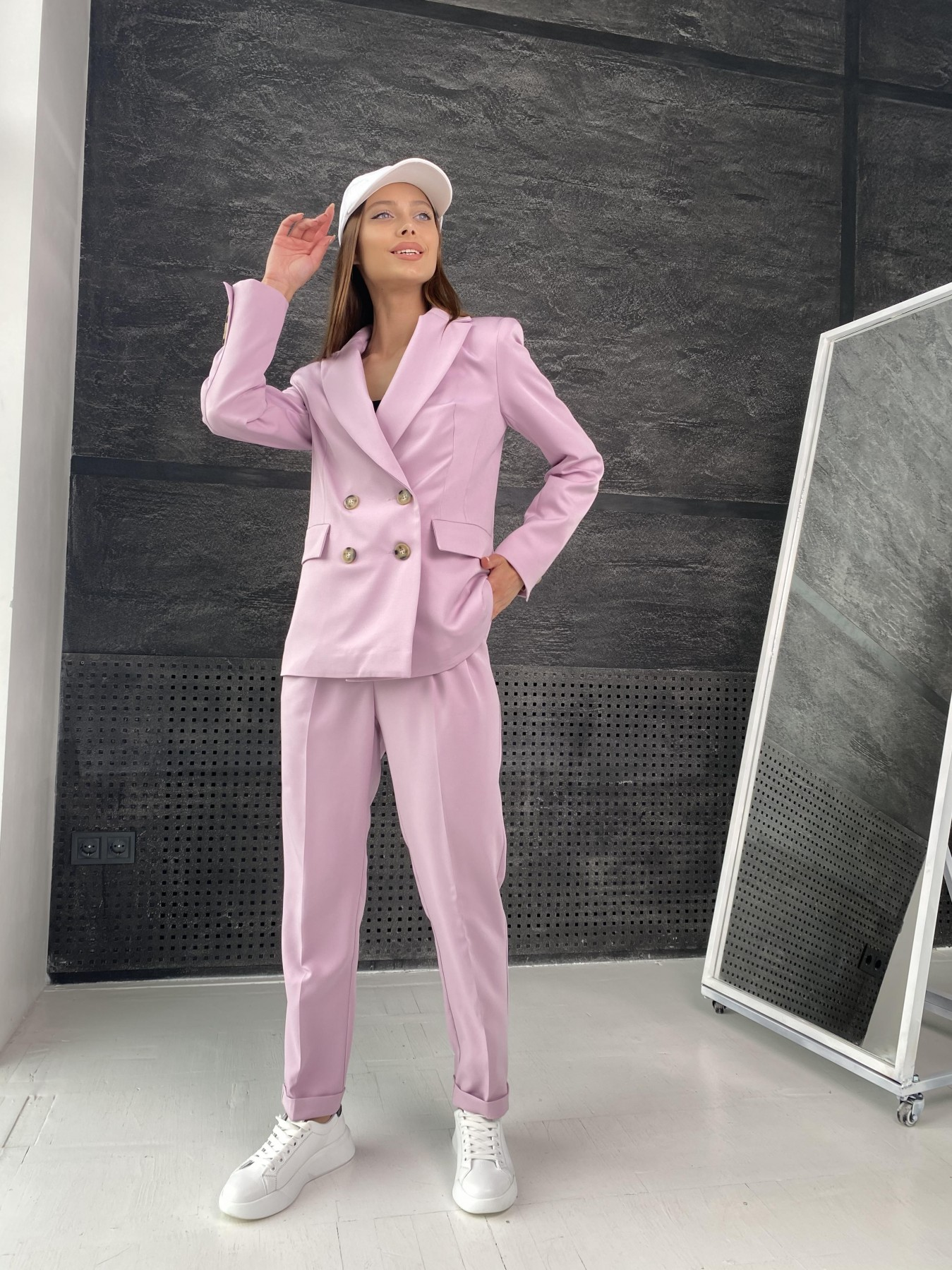 Франко костюм стрейчевый из костюмной ткани 11090 АРТ. 47968 Цвет: Пудра 2 - фото 5, интернет магазин tm-modus.ru